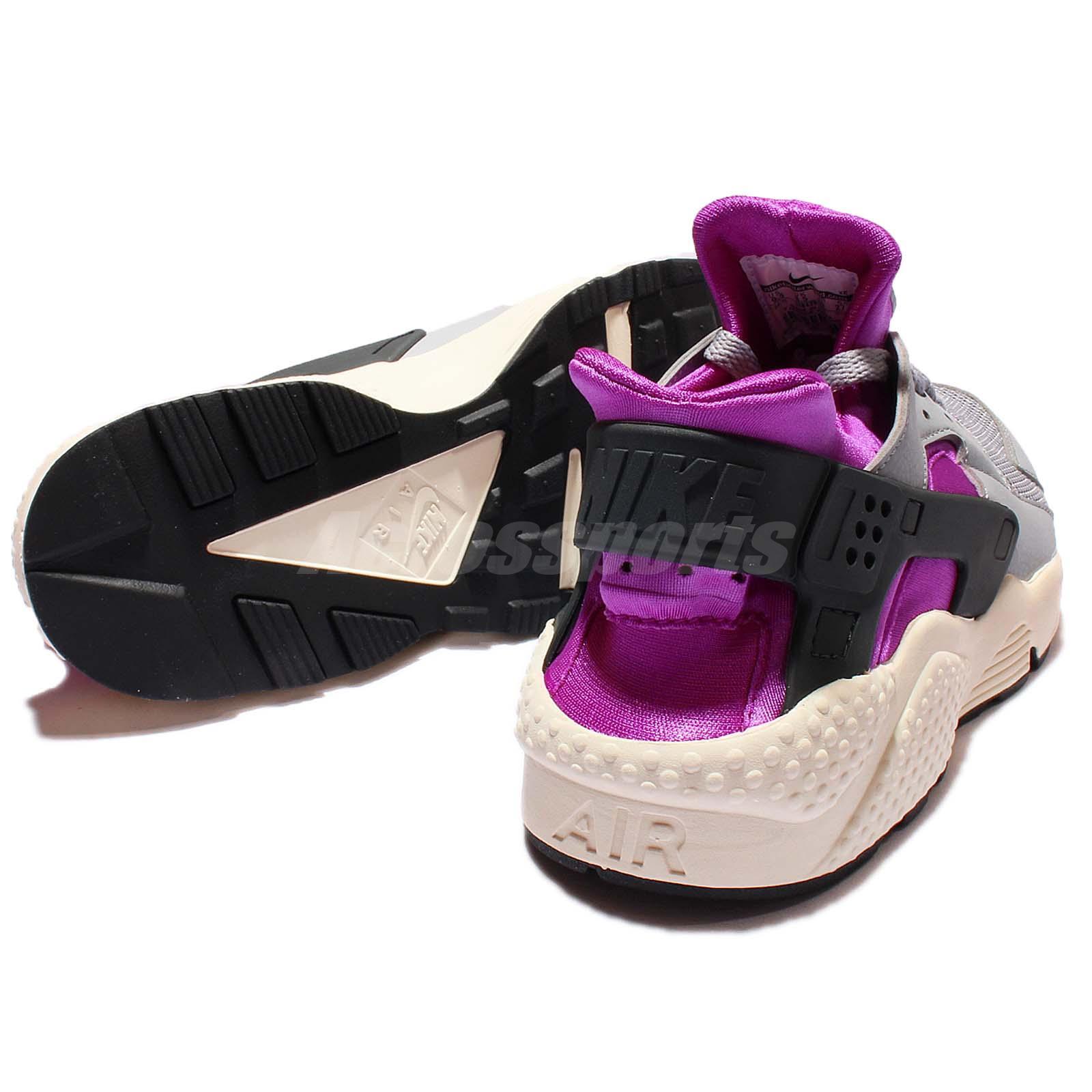 Nike Air Huarache Grey Sail Purple Mens Running Trainer Sneakers Shoe 318429-502 8rzPcEL