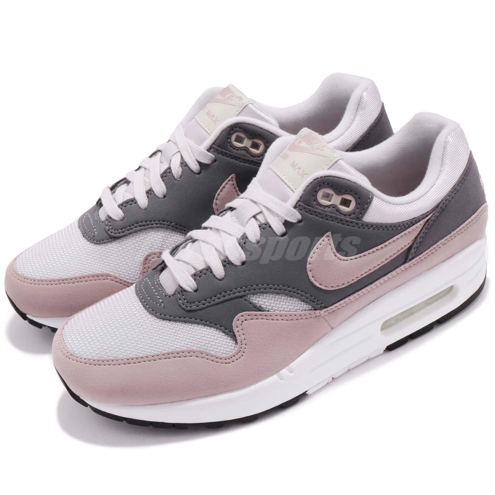 Nike Wmns Air Max 1 One Vast Grey Particle Rose Women Running Shoes 319986-032