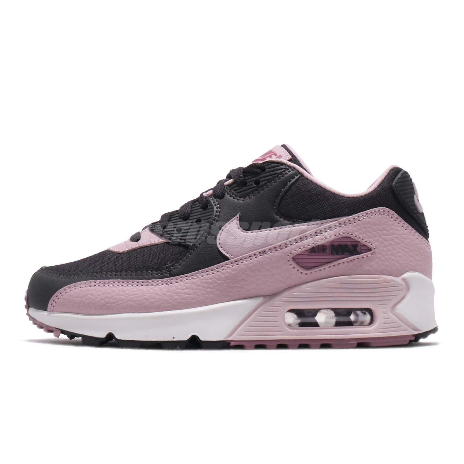 new concept c7816 e5d1b Details about Nike Wmns Air Max 90 Plum Chalk Pink Grey Women Running Shoes  Sneaker 325213-059