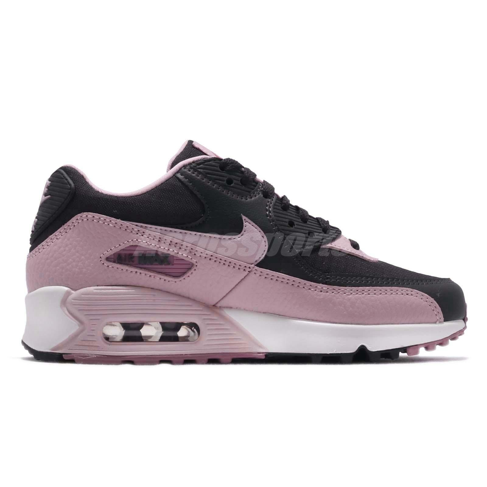 Details about Nike Wmns Air Max 90 Plum Chalk Pink Grey Women Running Shoes Sneaker 325213 059