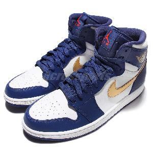 the latest a9a8a d90cd Nike Air Jordan 1 Retro High Deep Royal Mens Basketball Shoes Jumpman  332550-406