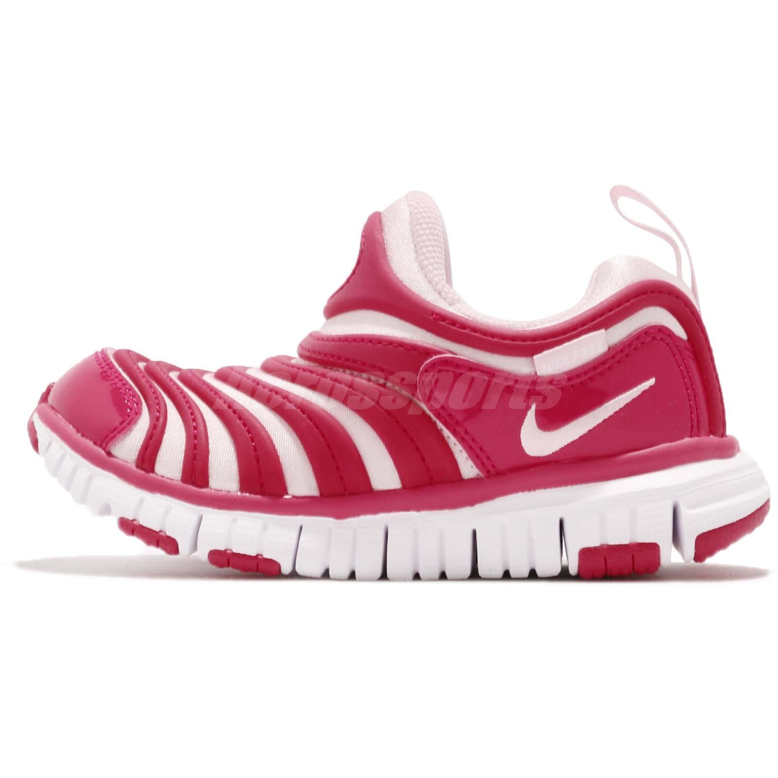 7062be2a8e71 Nike Dynamo Free PS Pink White Preschool Girls Running Shoes Sneakers  343738-626