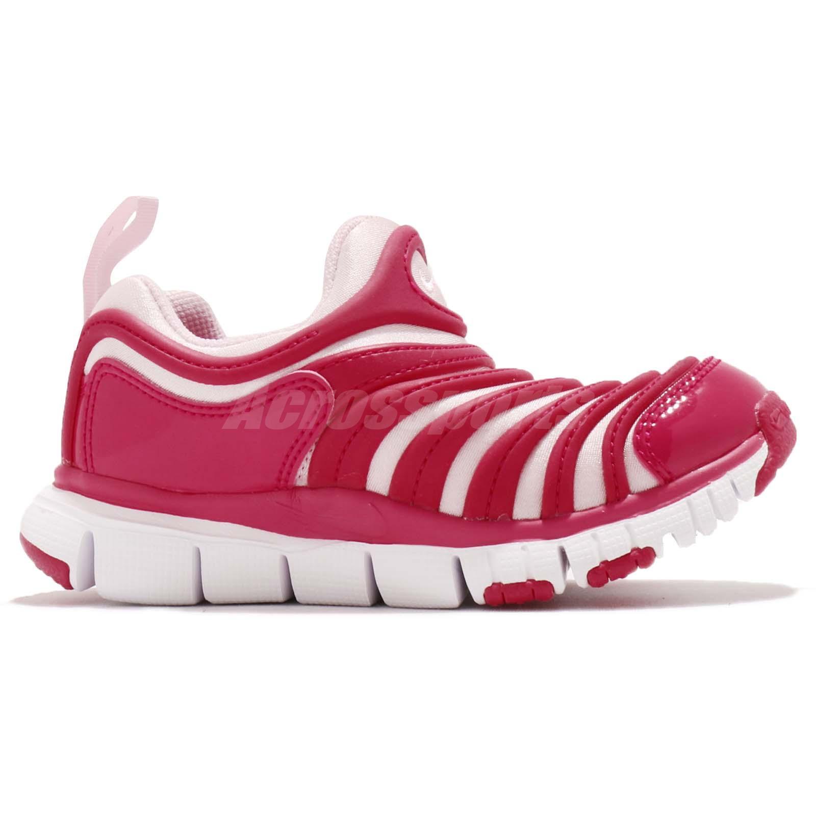 0e1e69169448 Nike Dynamo Free PS Pink White Preschool Girls Running Shoes ...