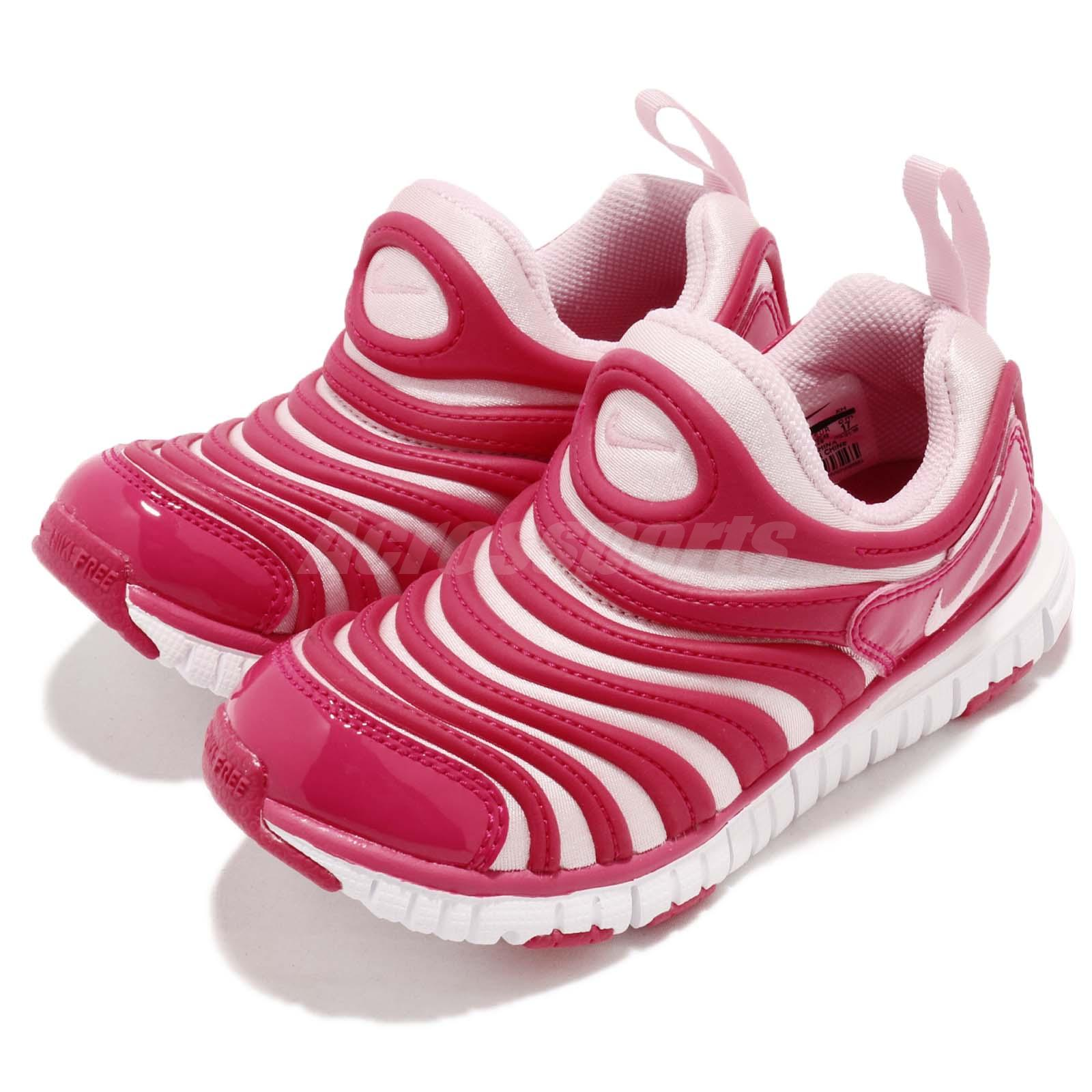 ee41d43557f5a Details about Nike Dynamo Free PS Pink White Preschool Girls Running Shoes  Sneakers 343738-626