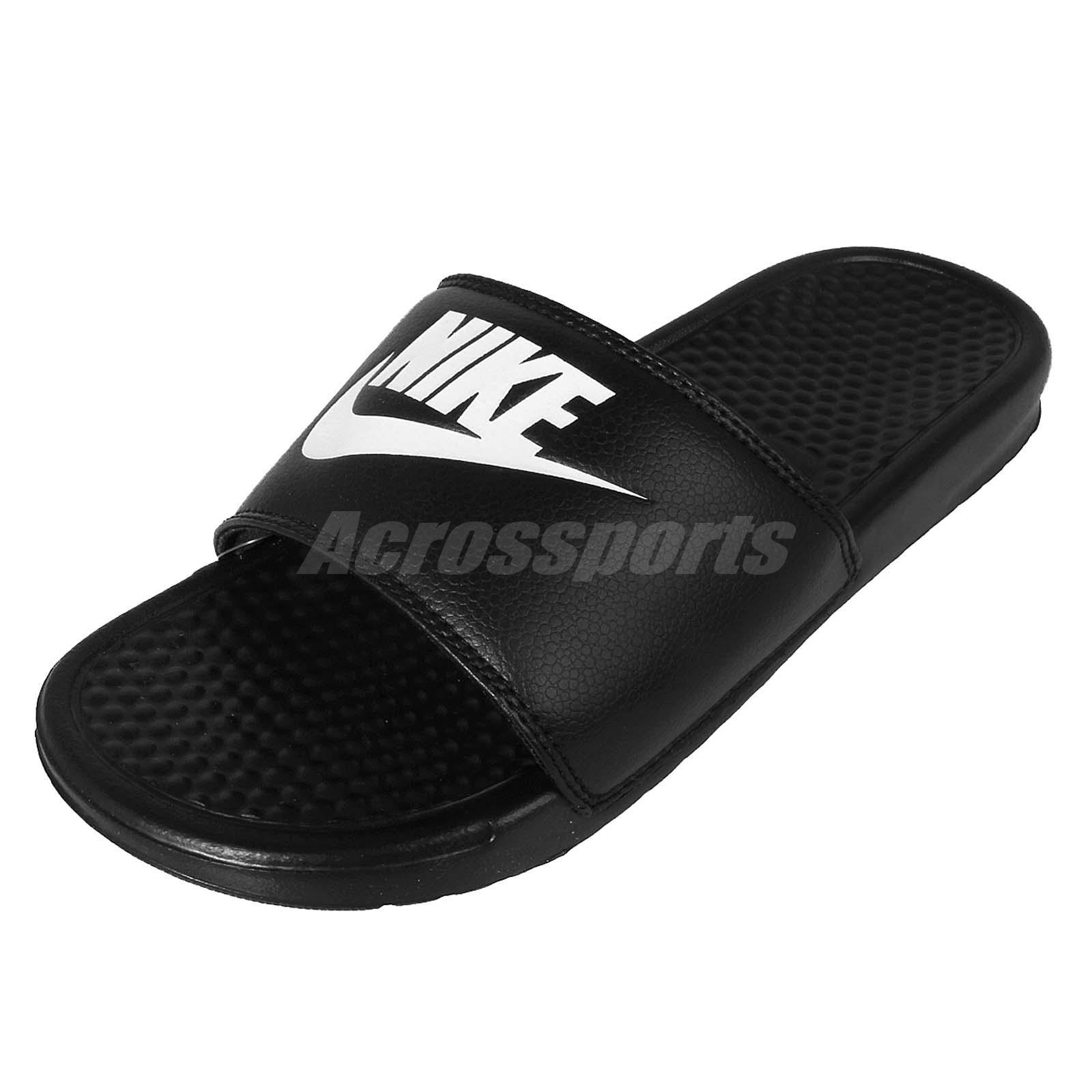 ef4aa05b0 Nike Benassi JDI Black White Men Sports Sandals Slippers Slides 343880-090
