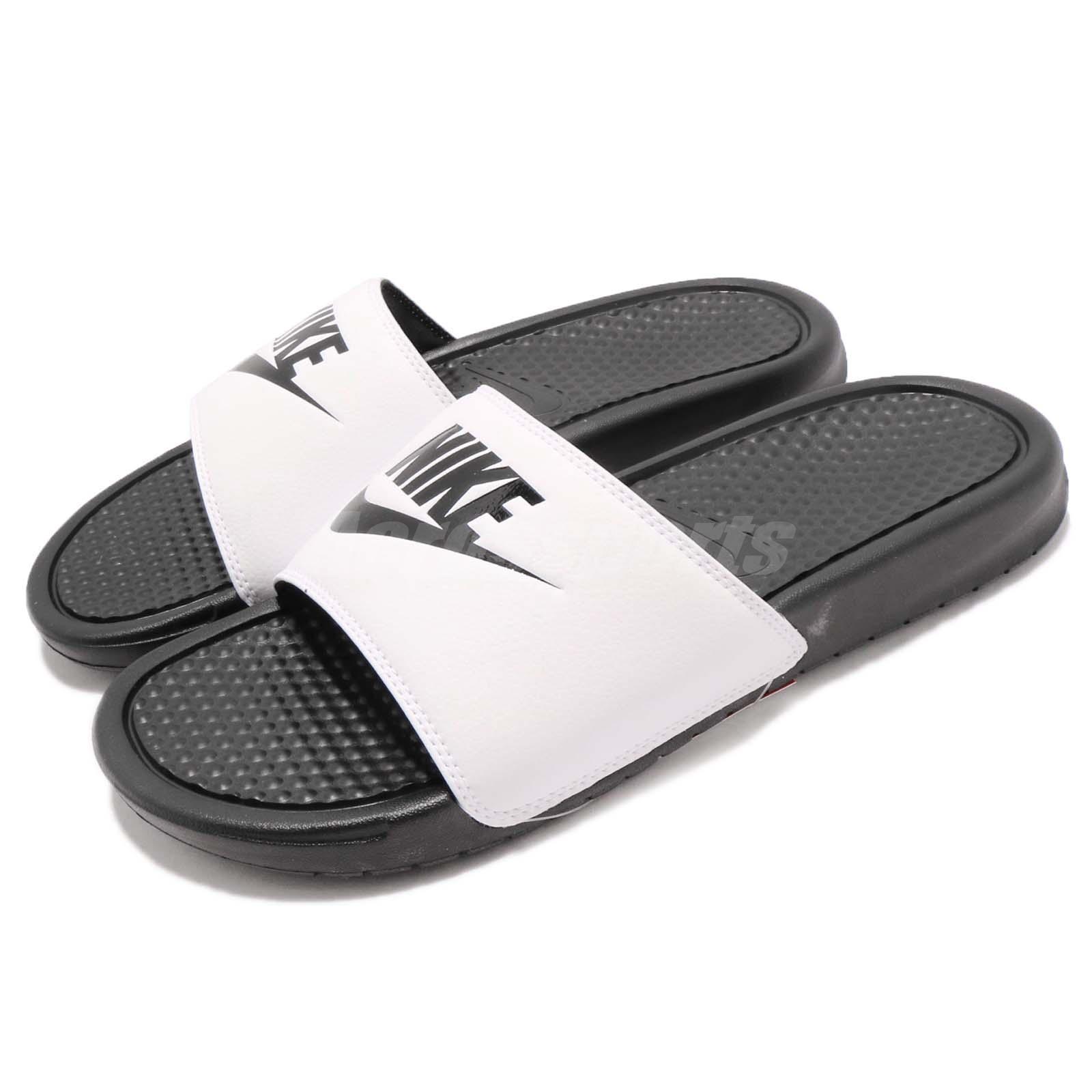 Nike Benassi JDI LOGO White Black Men