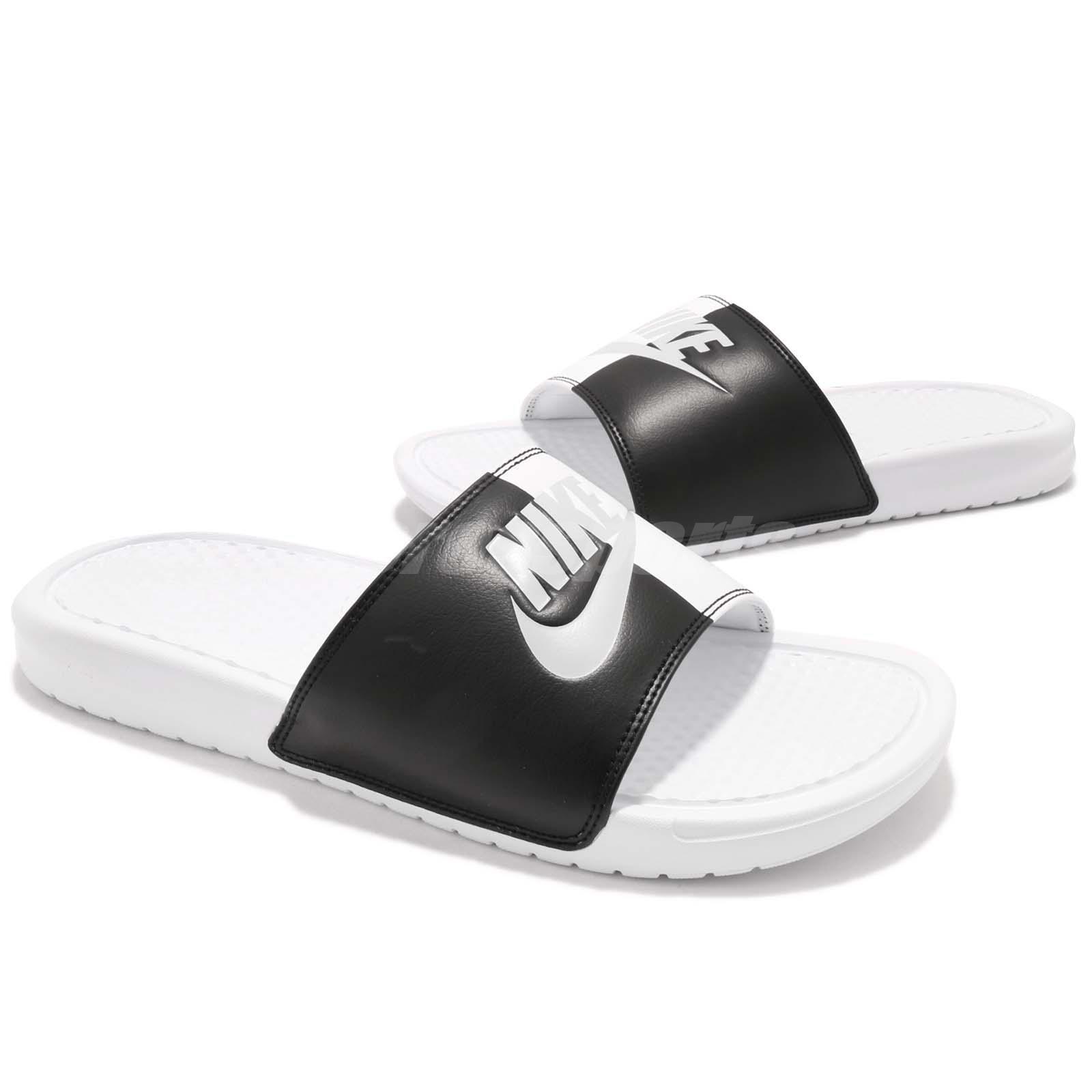 more photos 77f3d 85f6c Nike Wmns Benassi JDI White Black Yin Yang Women Sports Sandal ...