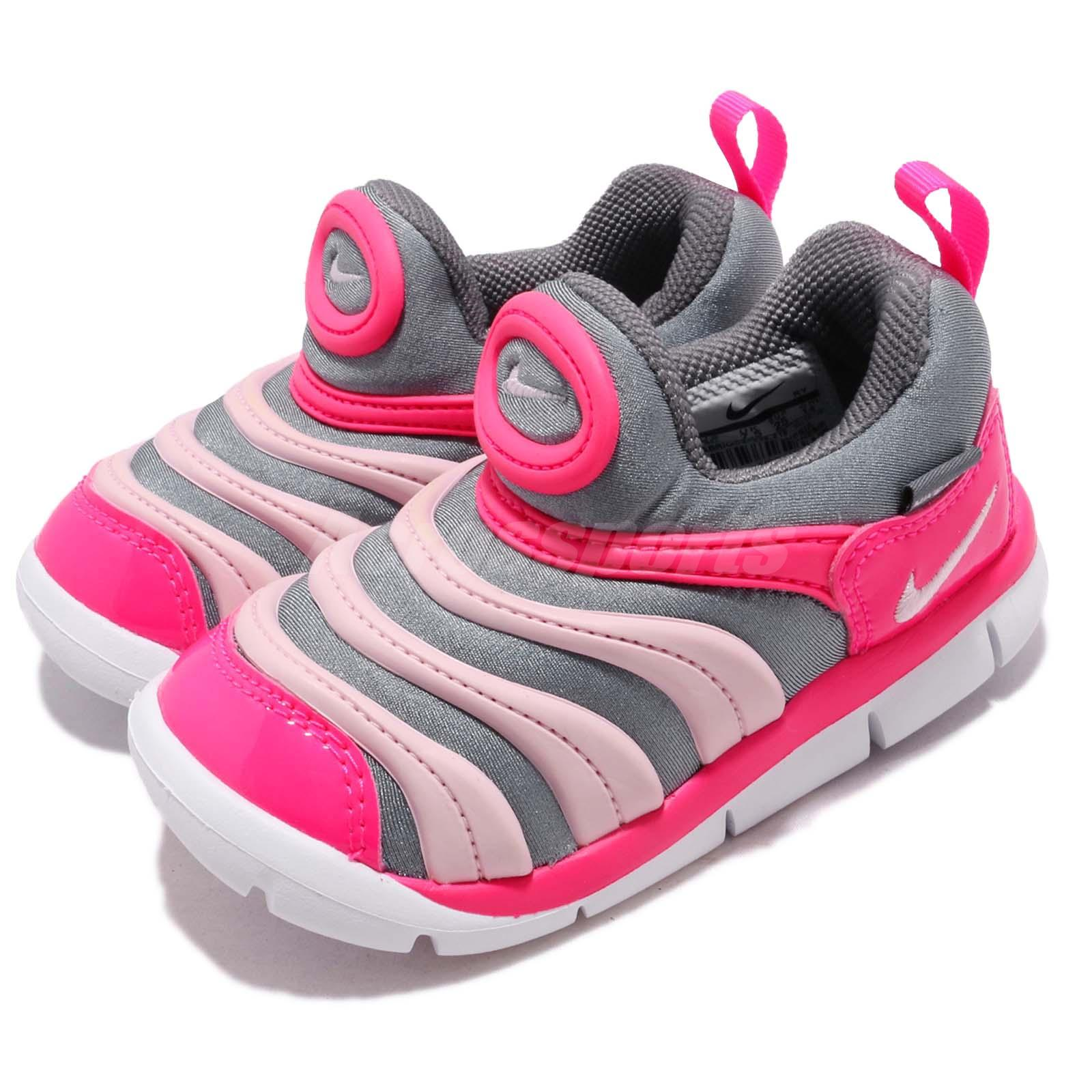 8544b90278b77 Details about Nike Dynamo Free TD Grey Pink White Toddler Infant Baby Shoes  Sneaker 343938-019