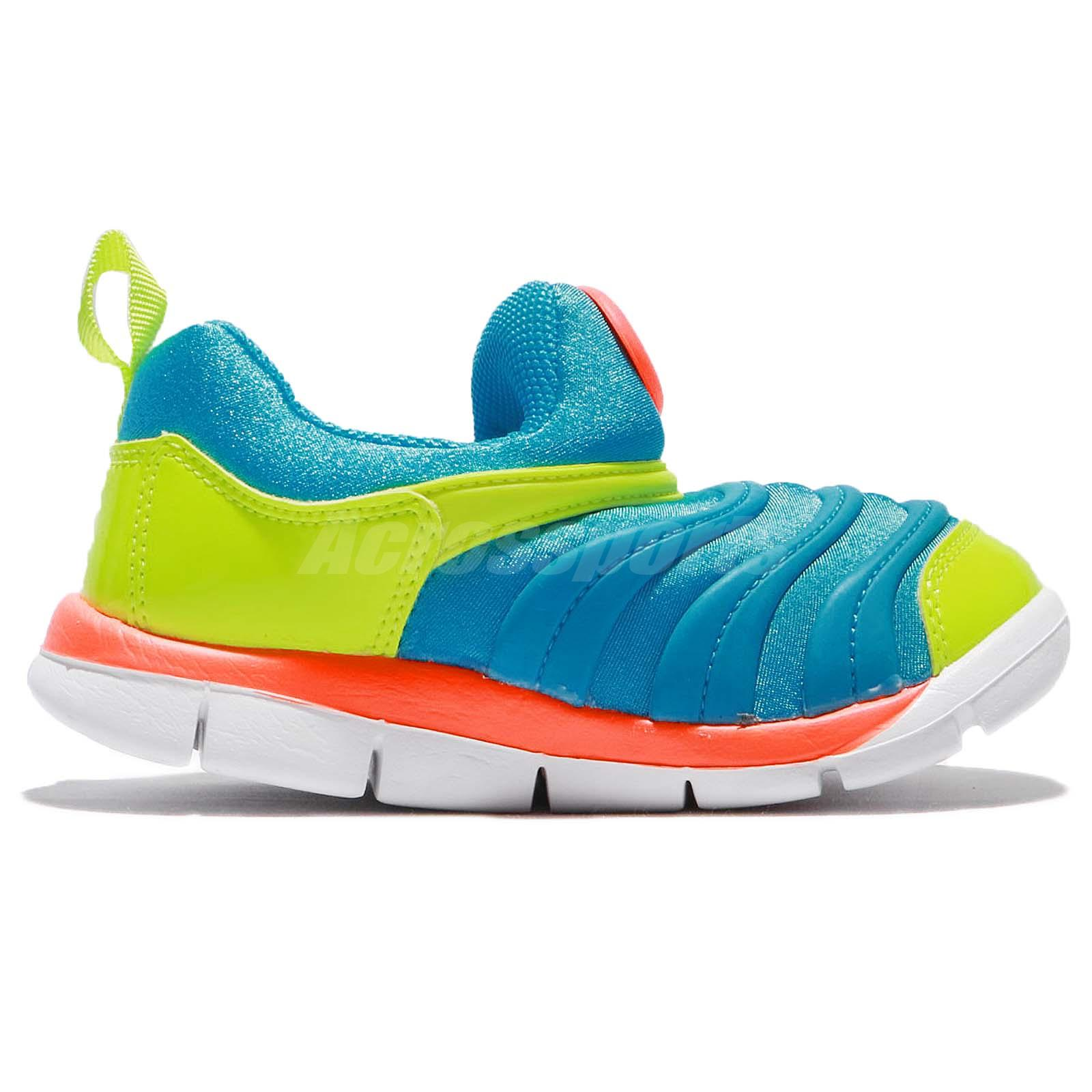 Nike Dynamo Free TD LT Blue Volt Toddler Infant Baby Shoes Sneakers
