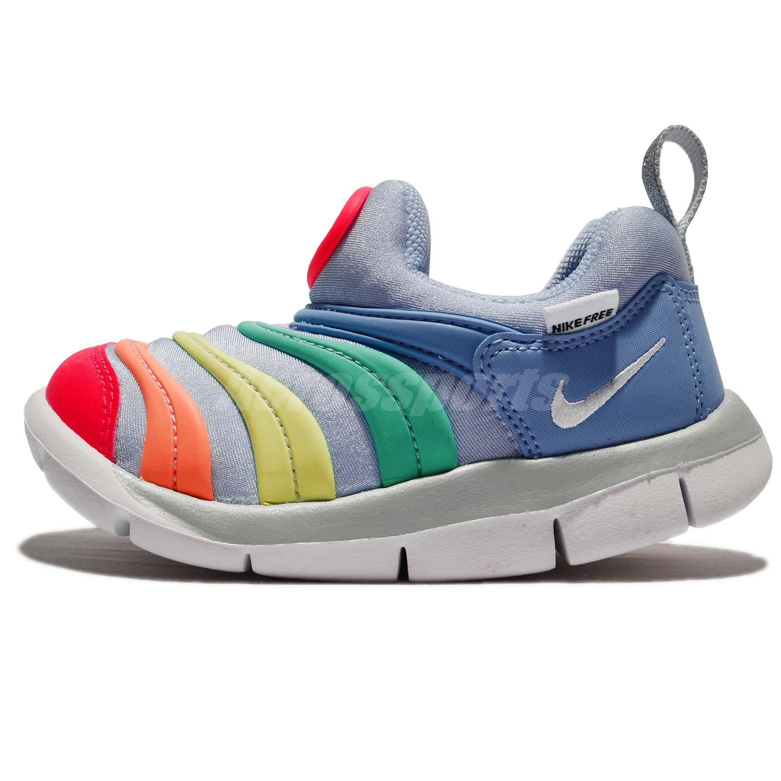 Nike Dynamo Free TD Royal Tint Rainbow Toddler Infant Baby Shoes