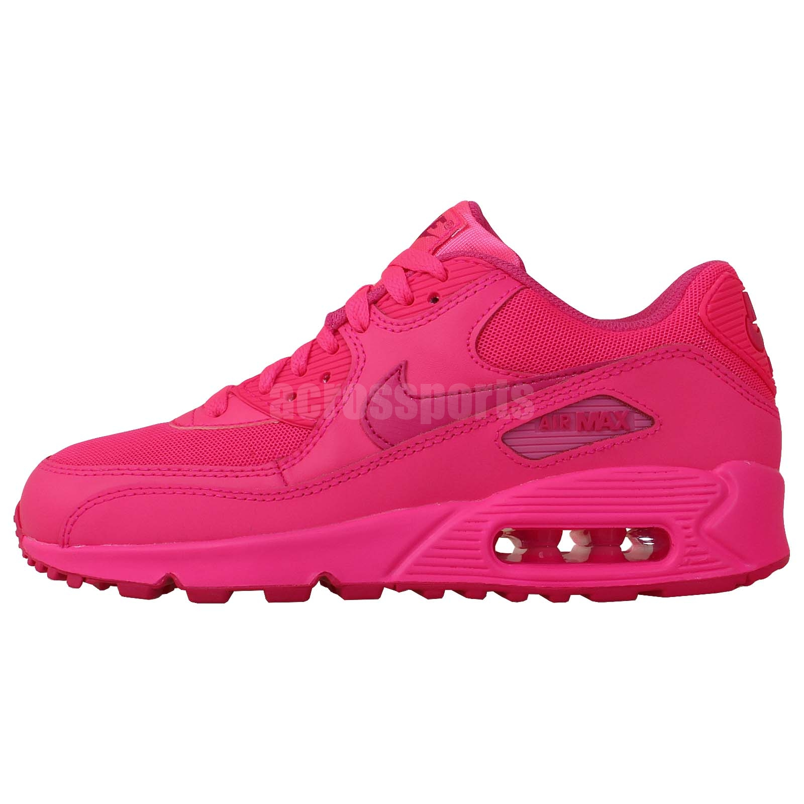 nike air max 90 2007 gs pink 2014 girls youth womens. Black Bedroom Furniture Sets. Home Design Ideas