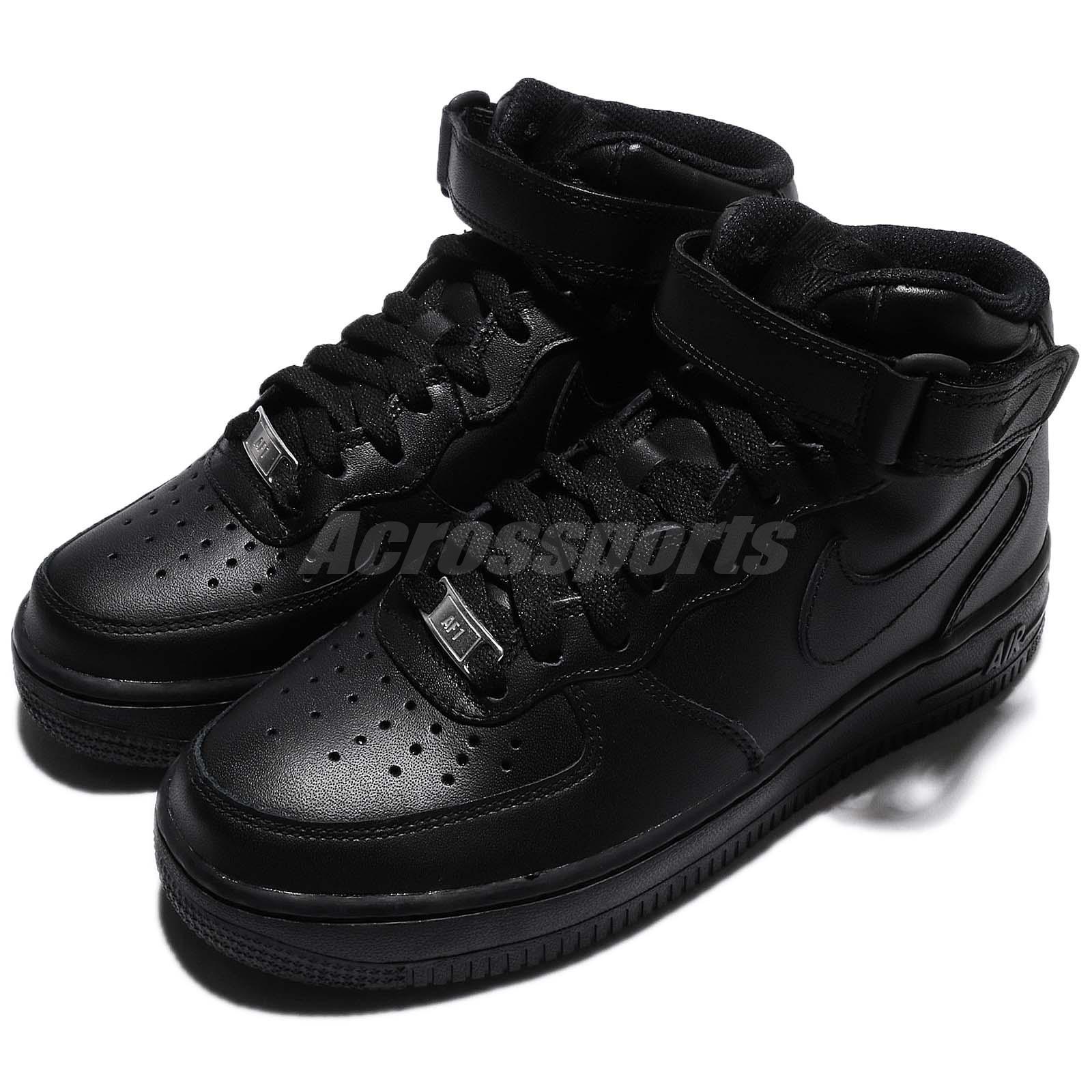 15807f9d85c Details about Wmns Nike Air Force 1 Mid 07 LE Black Out Women Shoes  Sneakers AF1 366731-001