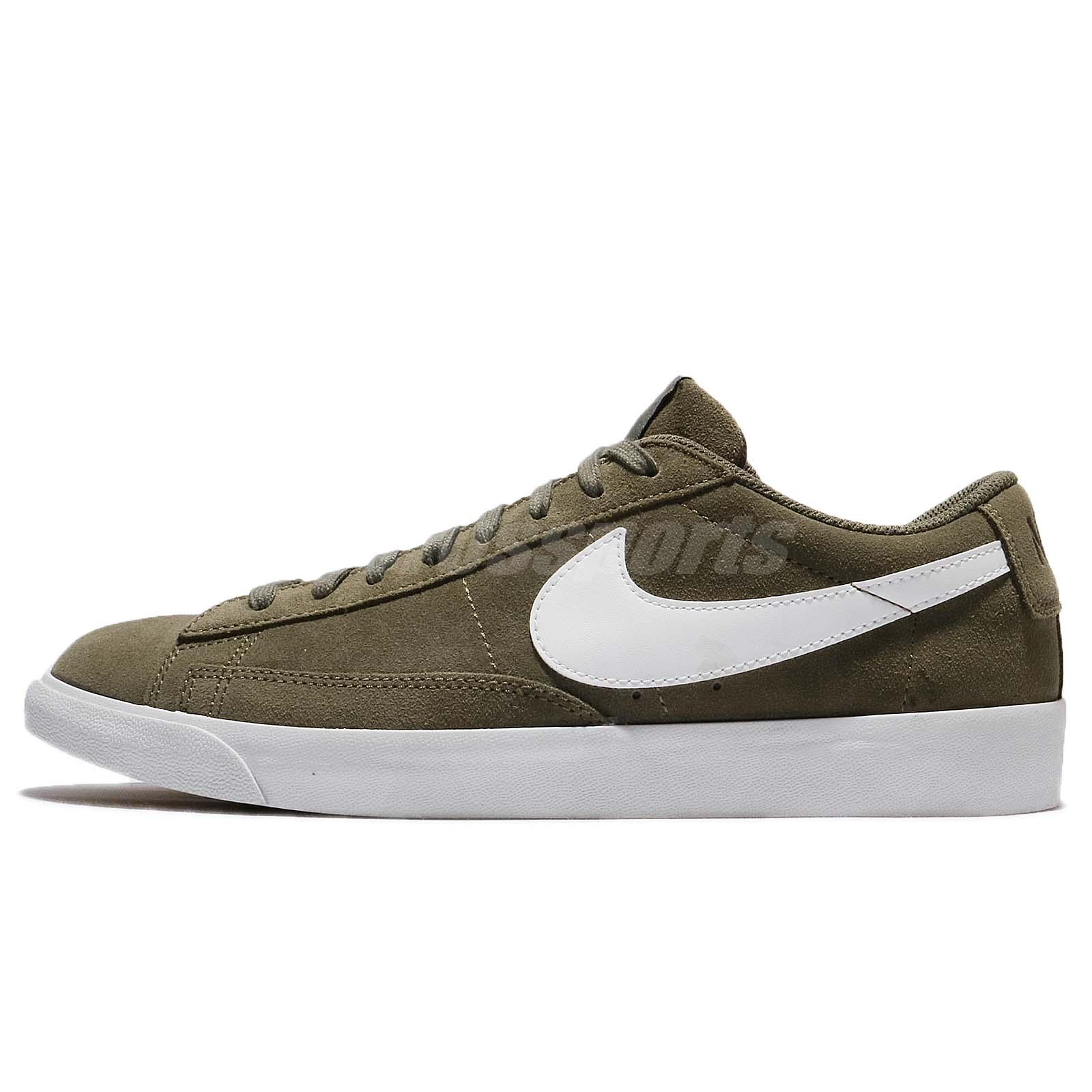 pretty cheap good looking retail prices Details about Nike Blazer Low Suede Medium Olive Green Men Shoes Sneakers  Trainers 371760-209