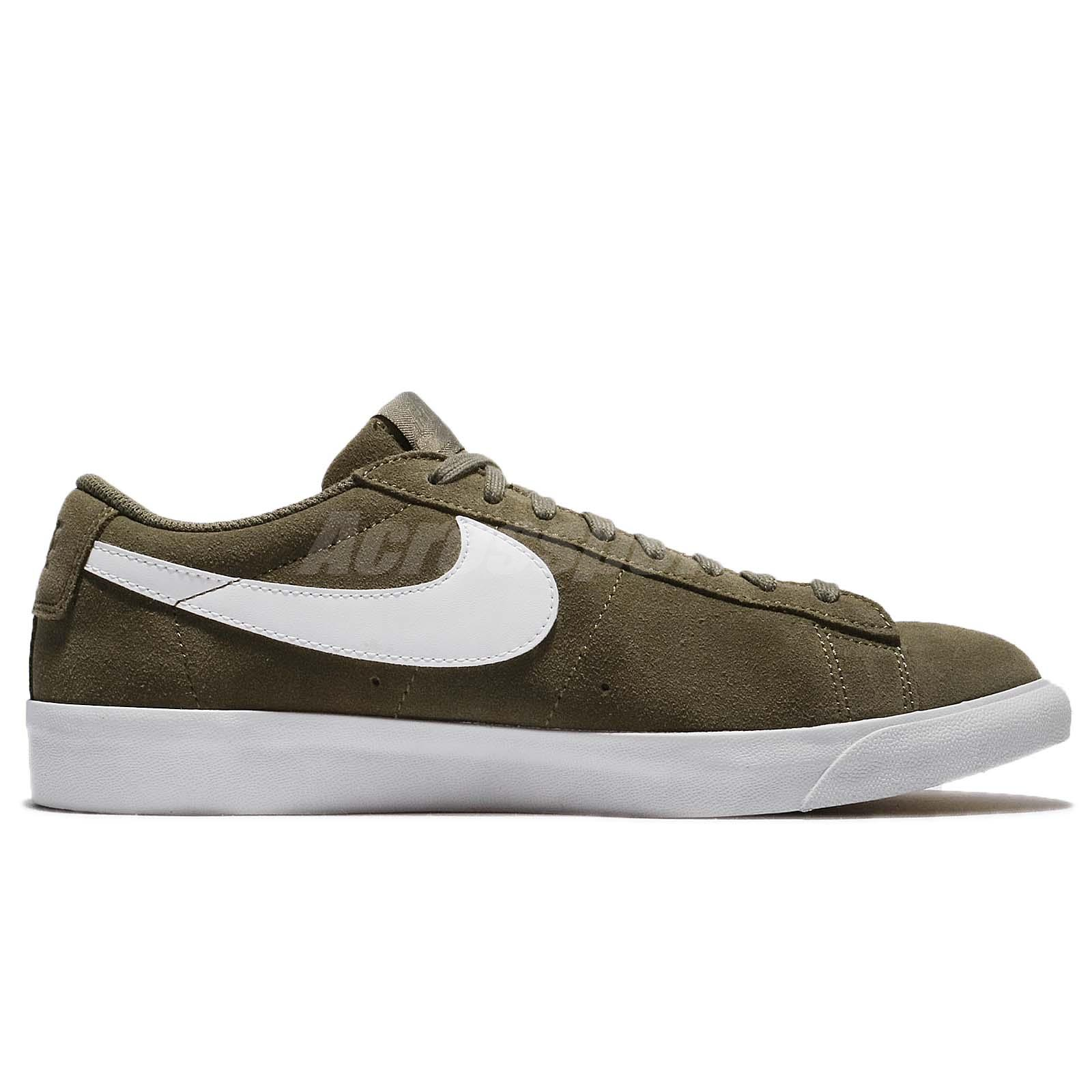 Nike Blazer Low Suede Medium Olive Green Men Shoes Sneakers Trainers ... 05e35d685