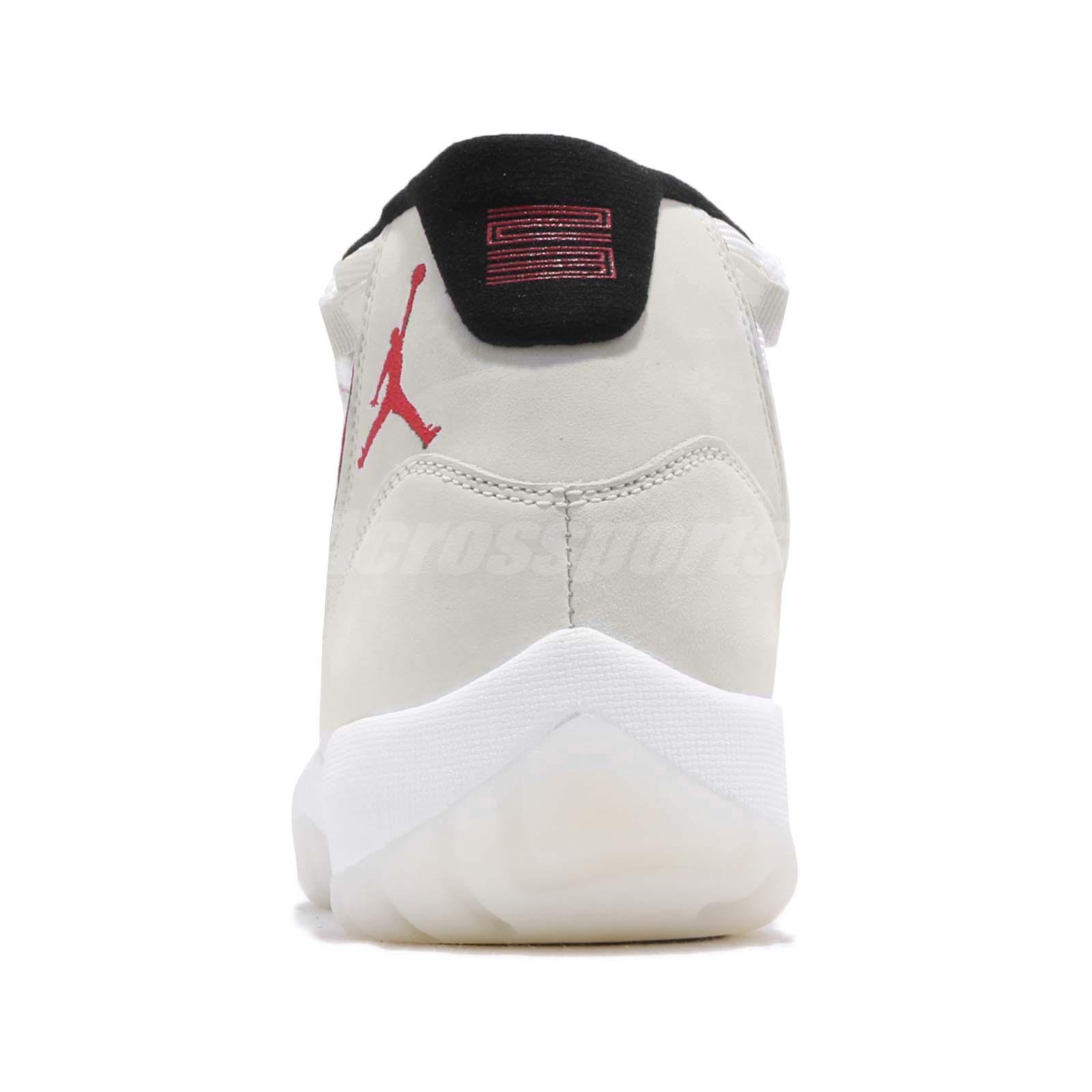 more photos 1c409 6f414 Nike Air Jordan 11 Retro Platinum Tint Sail University Red XI AJ11 ...
