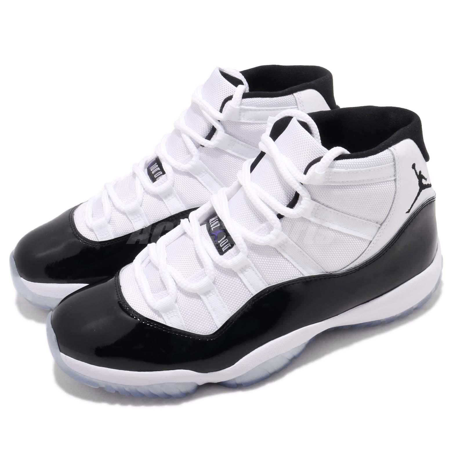 0b77334c6ed4c7 Details about Nike Air Jordan 11 Retro Concord XI OG 2018 White Black AJ11 Men  Shoe 378037-100