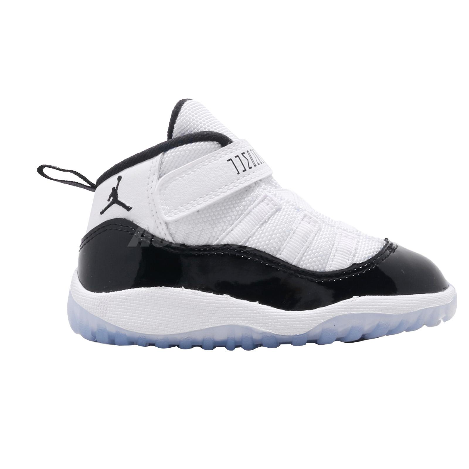 8912eb1d4ae Nike Jordan 11 Retro TD Concord White Black Air Toddler Infant Shoes ...