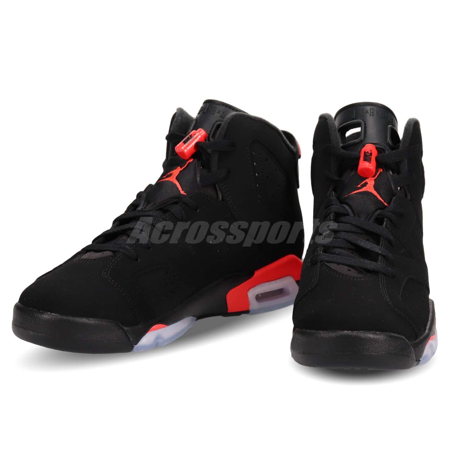 best loved 7af2c 1bc42 Details about Nike Air Jordan 6 Retro BG Infrared Black 6s OG 2019 Release  Preorder 384665-060