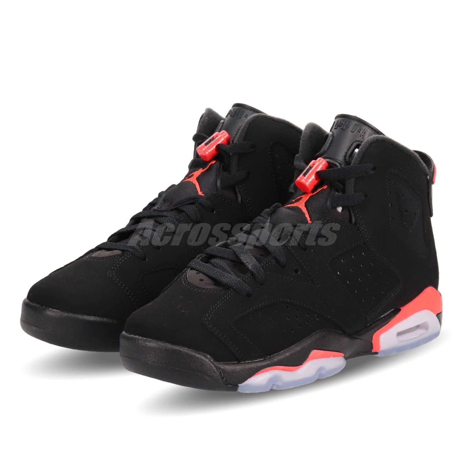 6217549c6c88e Details about Nike Air Jordan 6 Retro BG Infrared Black 6s OG 2019 Release  Preorder 384665-060
