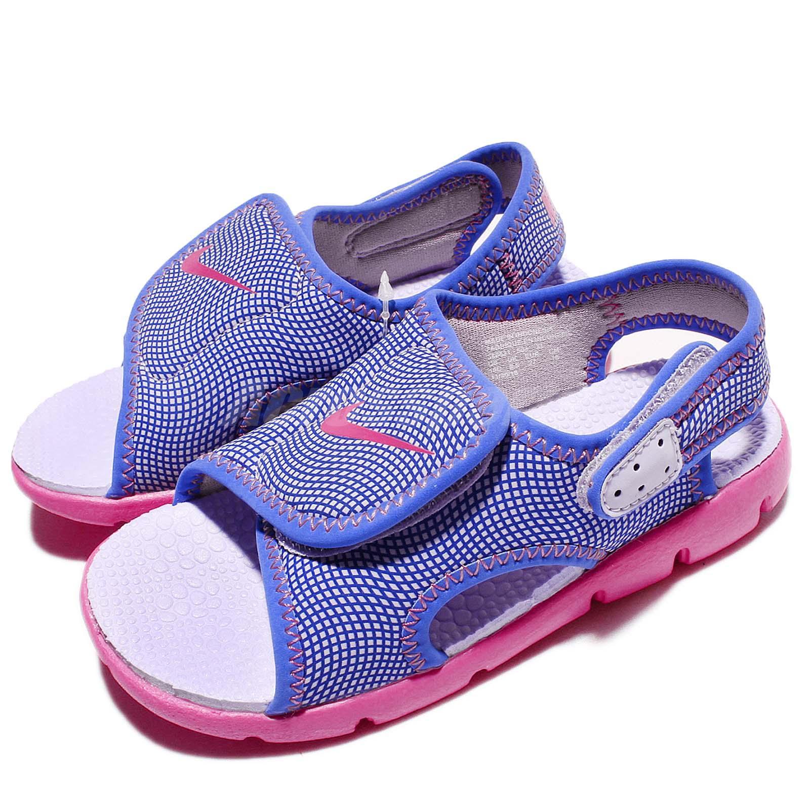 Nike Sunray Adjust 4 TD IV Purple Pink Toddler Baby Infant Sandal