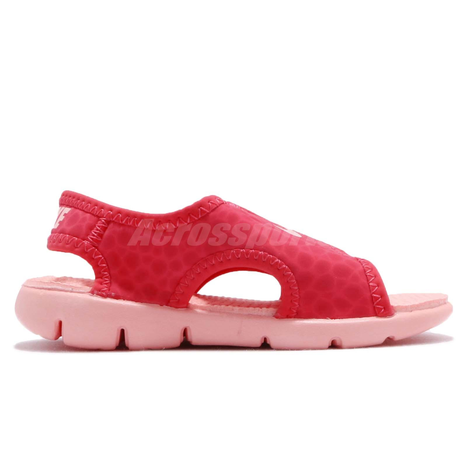 53ffb5c70 Nike Sunray Adjust 4 TD IV Tripocal Pink Red Cleached Coral Toddler ...