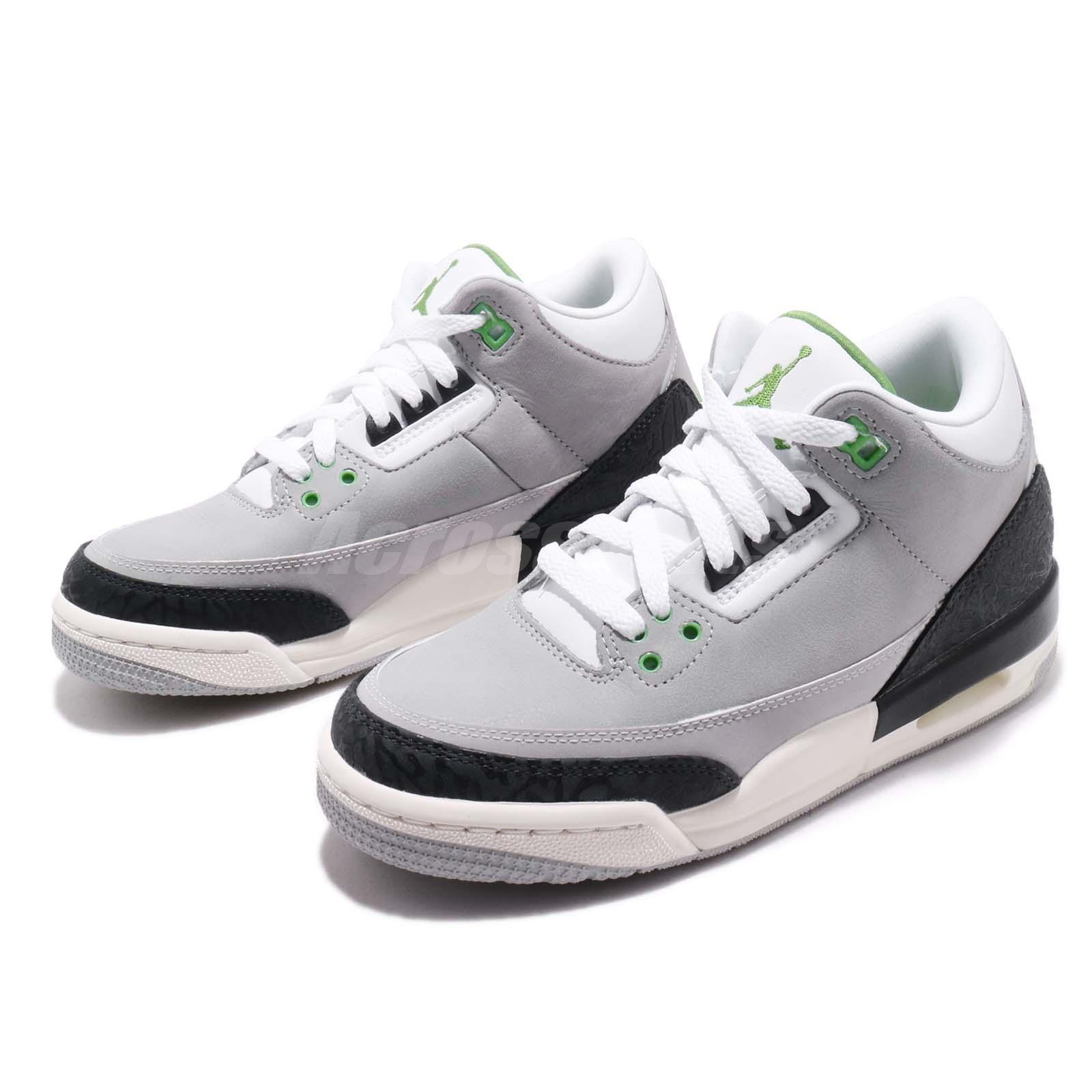 new style 950bf d247e Details about Nike Air Jordan 3 Retro BG Chlorophyll Tinker Green Kid Women  Shoes 398614-006