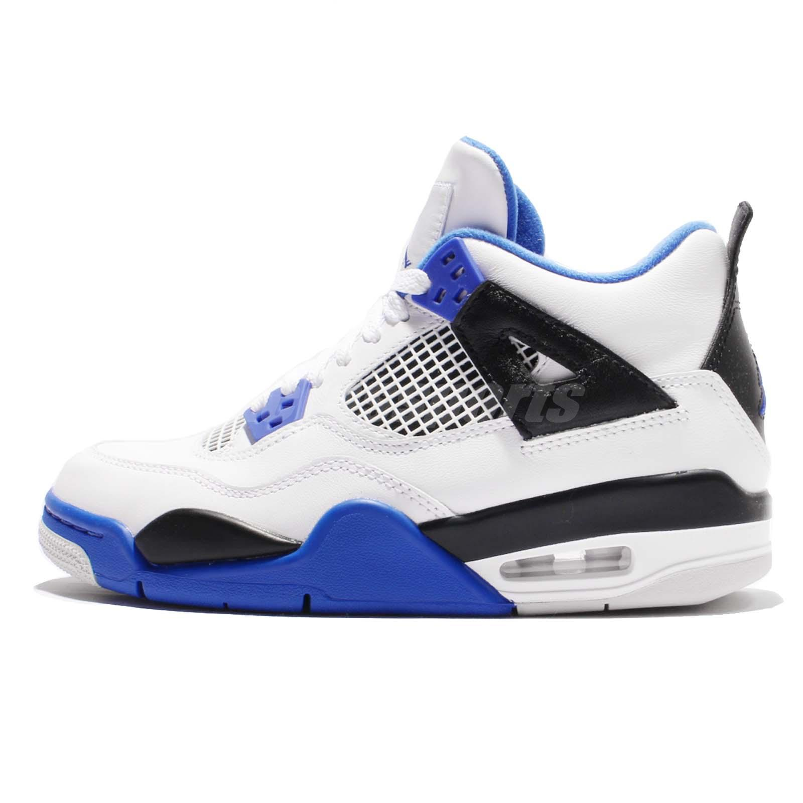Nike Air Jordan 4 Retro BG IV Motorsports Kids Women Basketball AJ4 ...