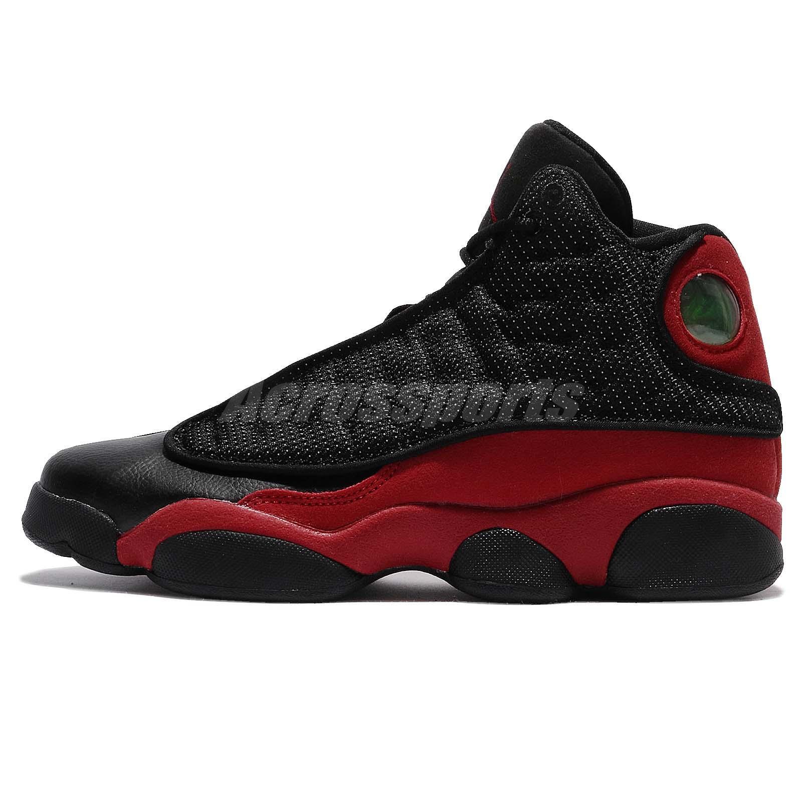 e0294d639b39 Nike Air Jordan 13 XIII Retro BG GS OG Bred Black Red AJ13 Kid Women  414574-004