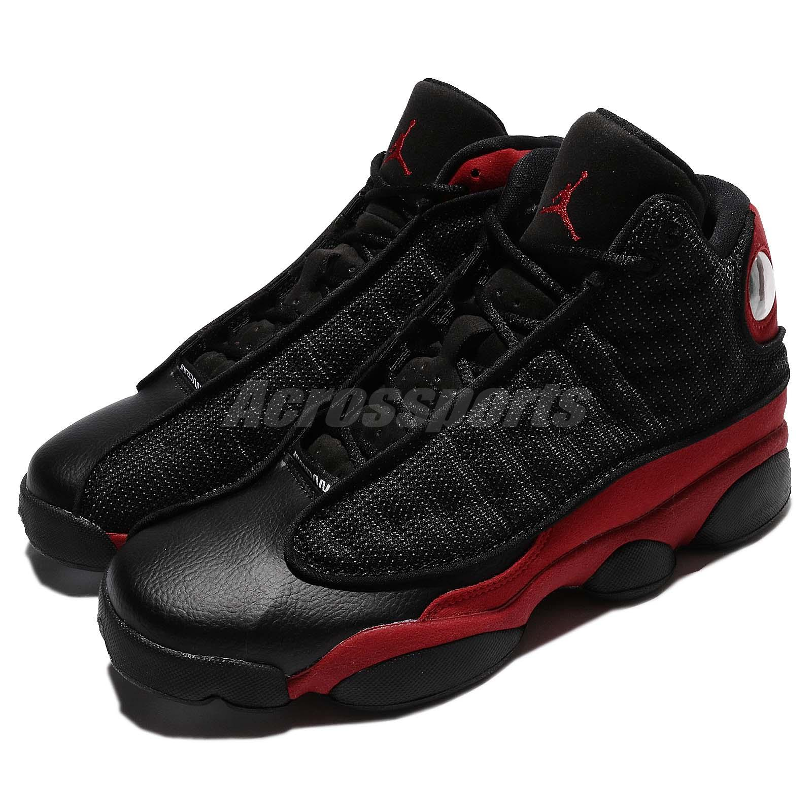 Details about Nike Air Jordan 13 XIII Retro BG GS OG Bred Black Red AJ13  Kid Women 414574-004 92ce728cdc8c