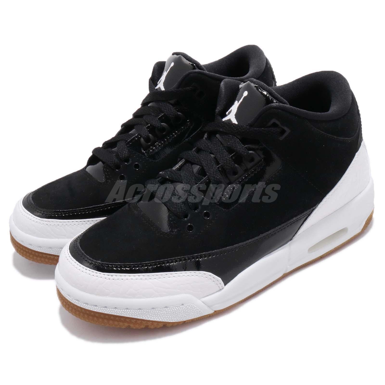 1c3f788f4 Details about Nike Air Jordan 3 Retro GG III Gum Black White Kid Women AJ3  GS Shoes 441140-022