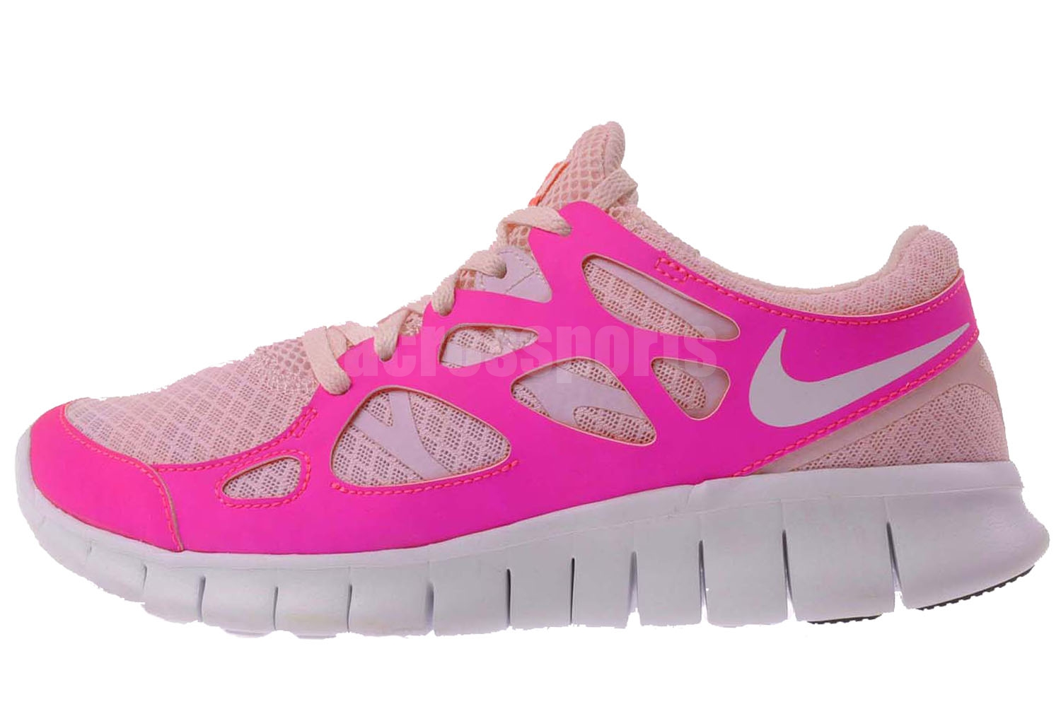 nike wmns free run plus 2 womens running shoes pink 443816. Black Bedroom Furniture Sets. Home Design Ideas