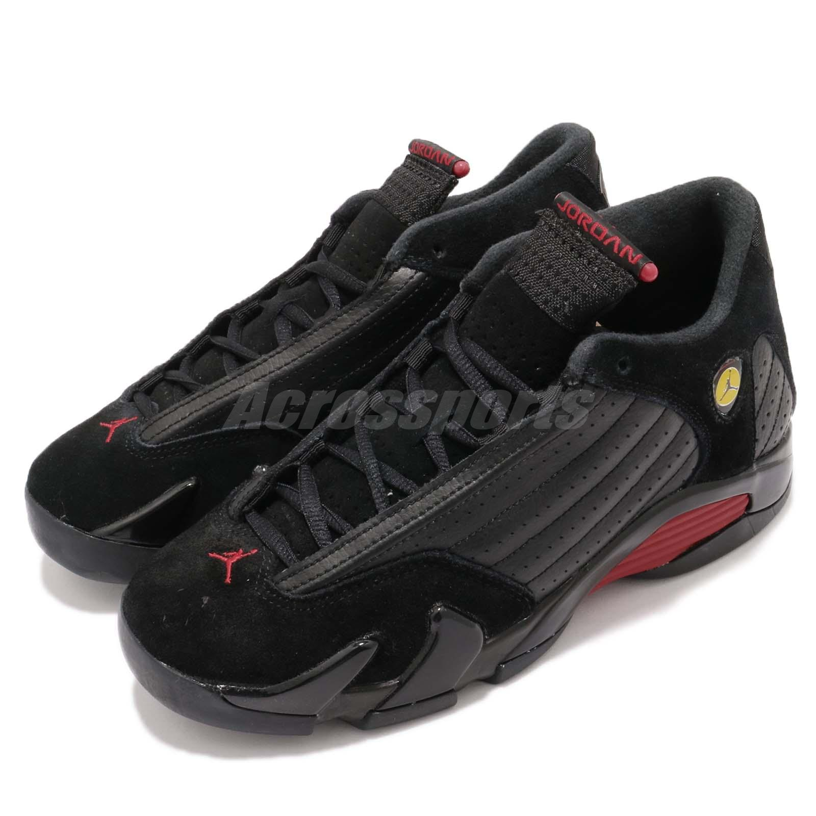 outlet store 528b9 18d58 Details about Nike Air Jordan 14 Retro BG XIV AJ14 Last Shot Black Red Kid  Youth 487524-003