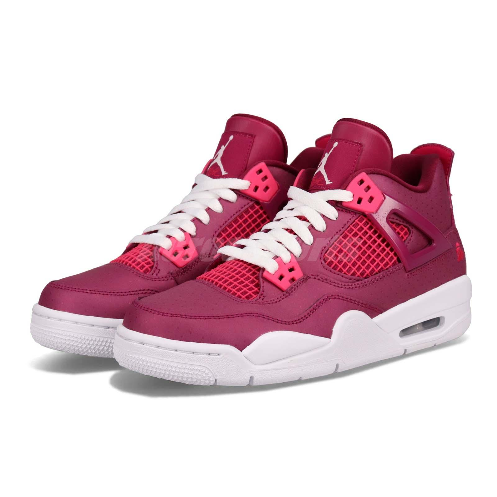 9241b2f6b9cb Details about Nike Air Jordan 4 Retro GS For The Love Of The Game Women Kid Shoes  487724-661