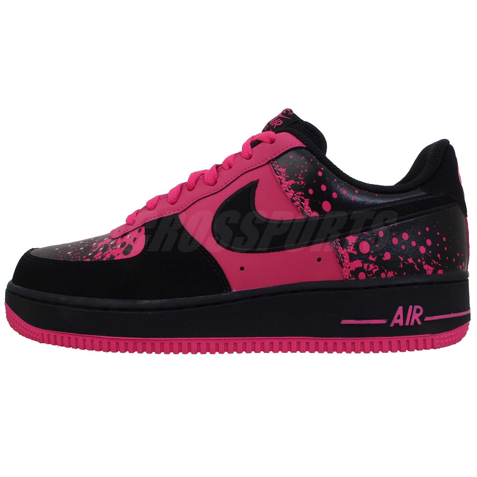 nike air force 1 lava splatter pink black mens classic. Black Bedroom Furniture Sets. Home Design Ideas