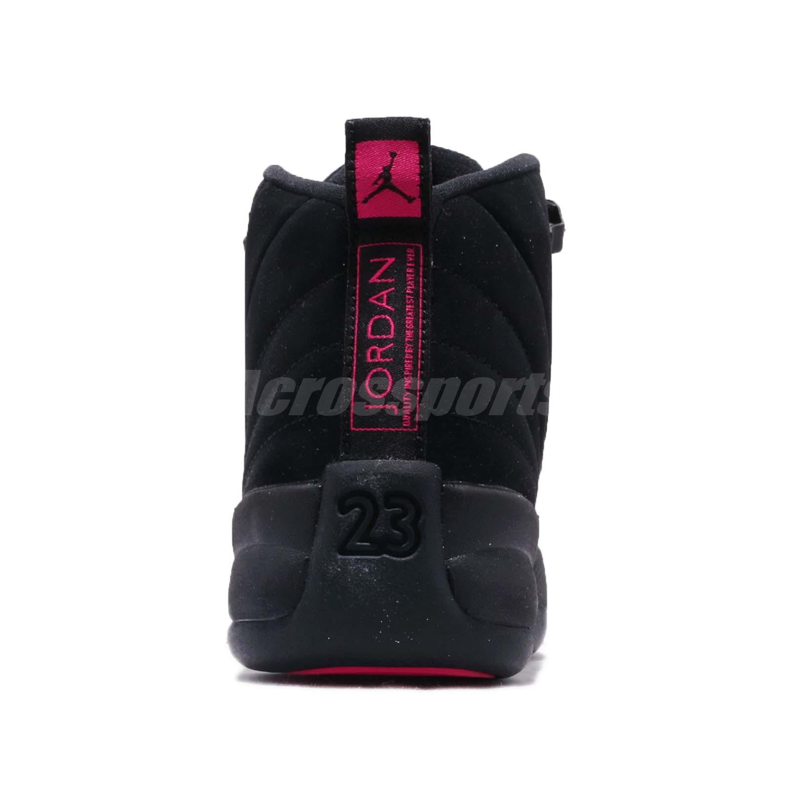 c675d106bd2a Nike Air Jordan 12 Retro GS XII Rush Pink Black Kid Youth Women ...