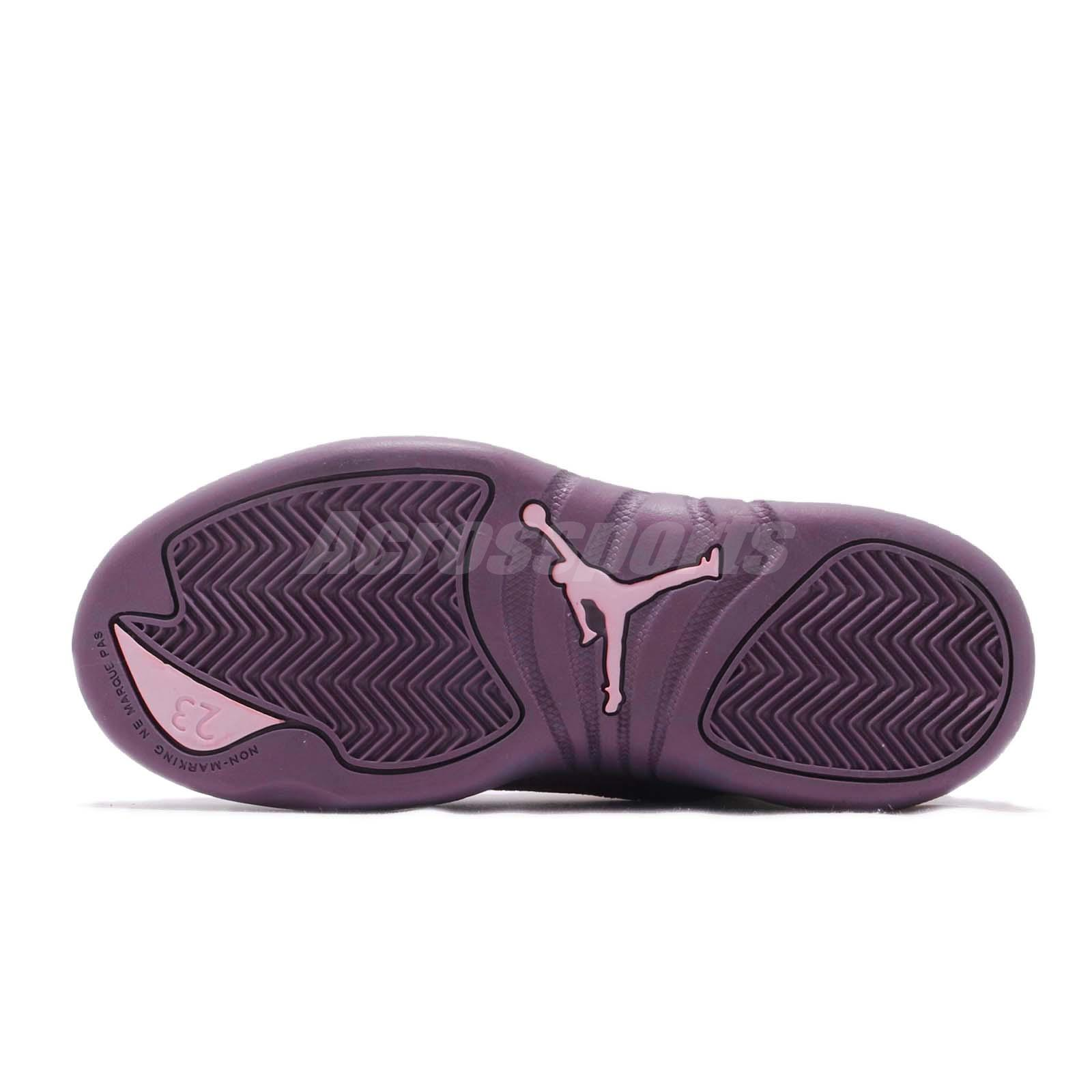 8f486db10ac Nike Jordan 12 Retro PS XII AJ12 Desert Sand Purple Kid Preschool ...
