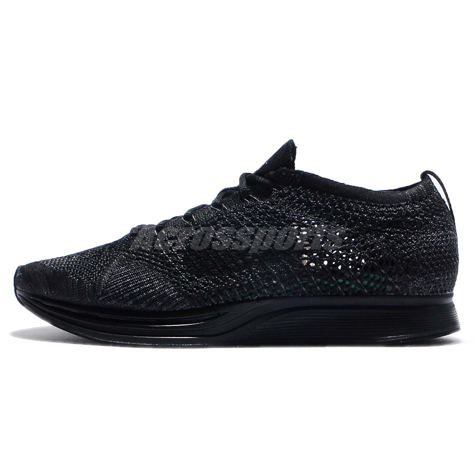 quality design 9186a 7ccf0 ... discount code for nike flyknit racer triple black men running casual  shoes sneakers 526628 009 03e2d