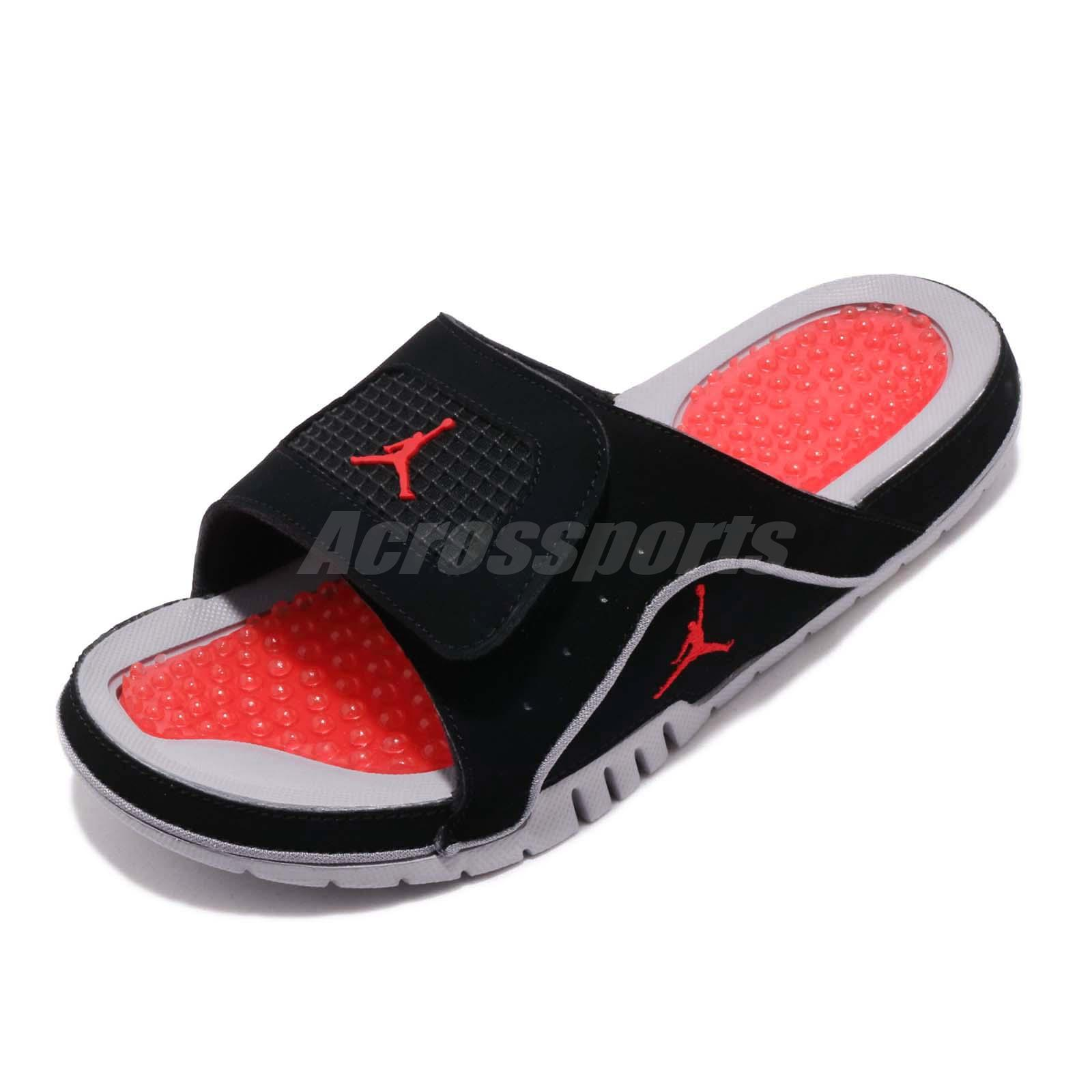 72bedba79 Nike Jordan Hydro IV 4 Retro Black Red Grey Men Sports Sandals Slides  532225-006