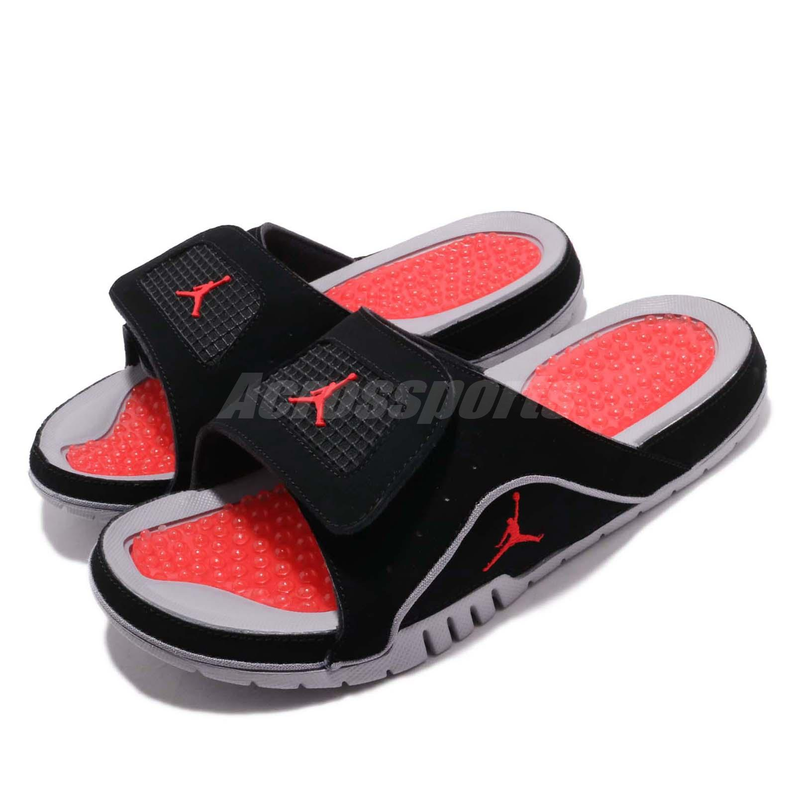 promo code 7a960 e4a59 Details about Nike Jordan Hydro IV 4 Retro Black Red Grey Men Sports Sandals  Slides 532225-006