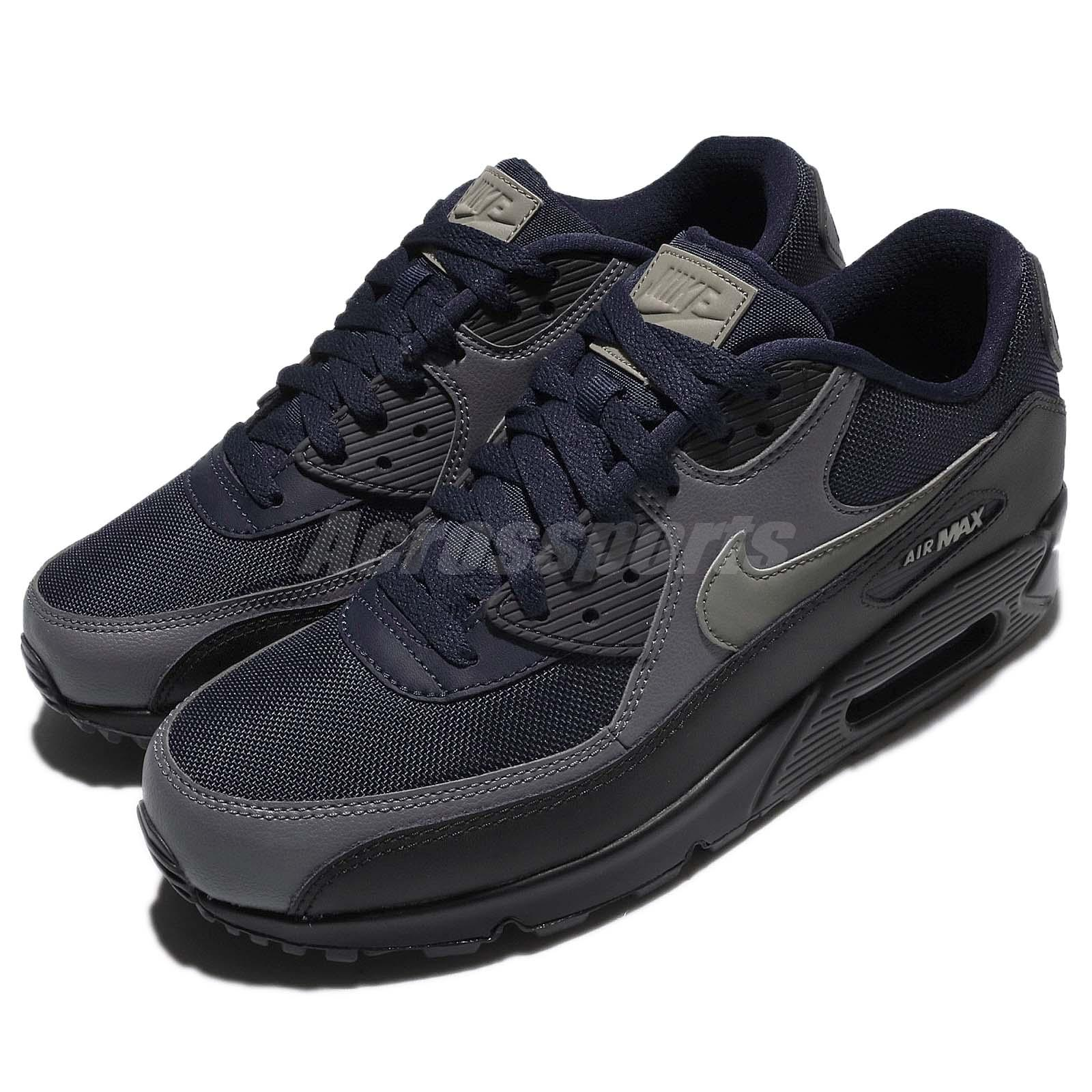 Nike Air Max 90 Essential Obsidian Dark Dark Dark Stucco Nero Uomo Running Shoe 537384426 6774f5