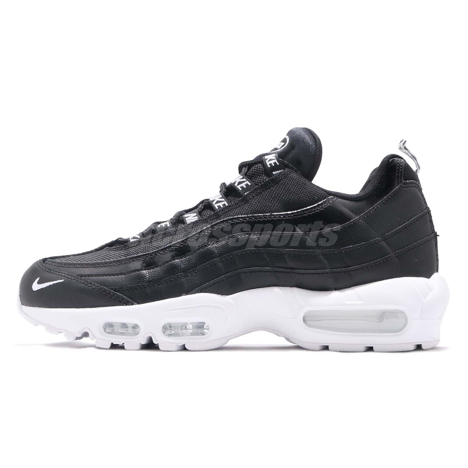new products 019c1 c287e Nike Air Max 95 PRM Overbranded Black White Men Running Shoes Sneaker 538416 -020