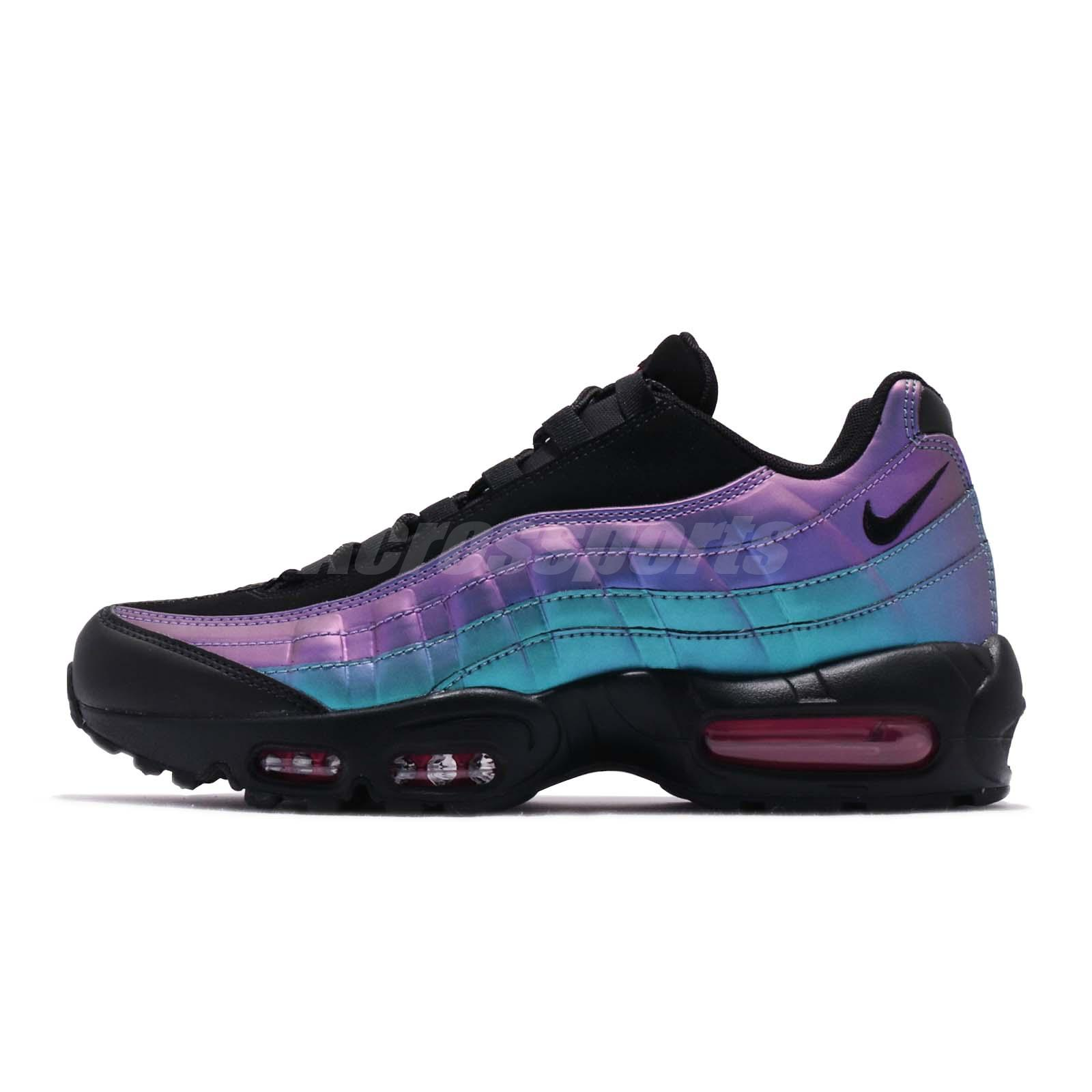 the best attitude 1cec0 ac16f Nike Air Max 95 PRM Throwback Future Black Laser Fuchsia Men Shoes 538416- 021
