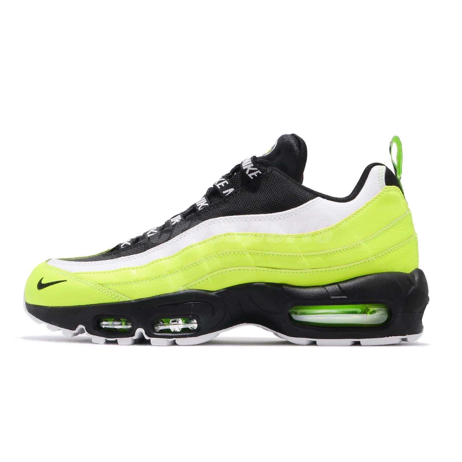 98a0bac6838a Nike Air Max 95 PRM Volt Black Mens Running Shoes NSW Sneakers 538416-701