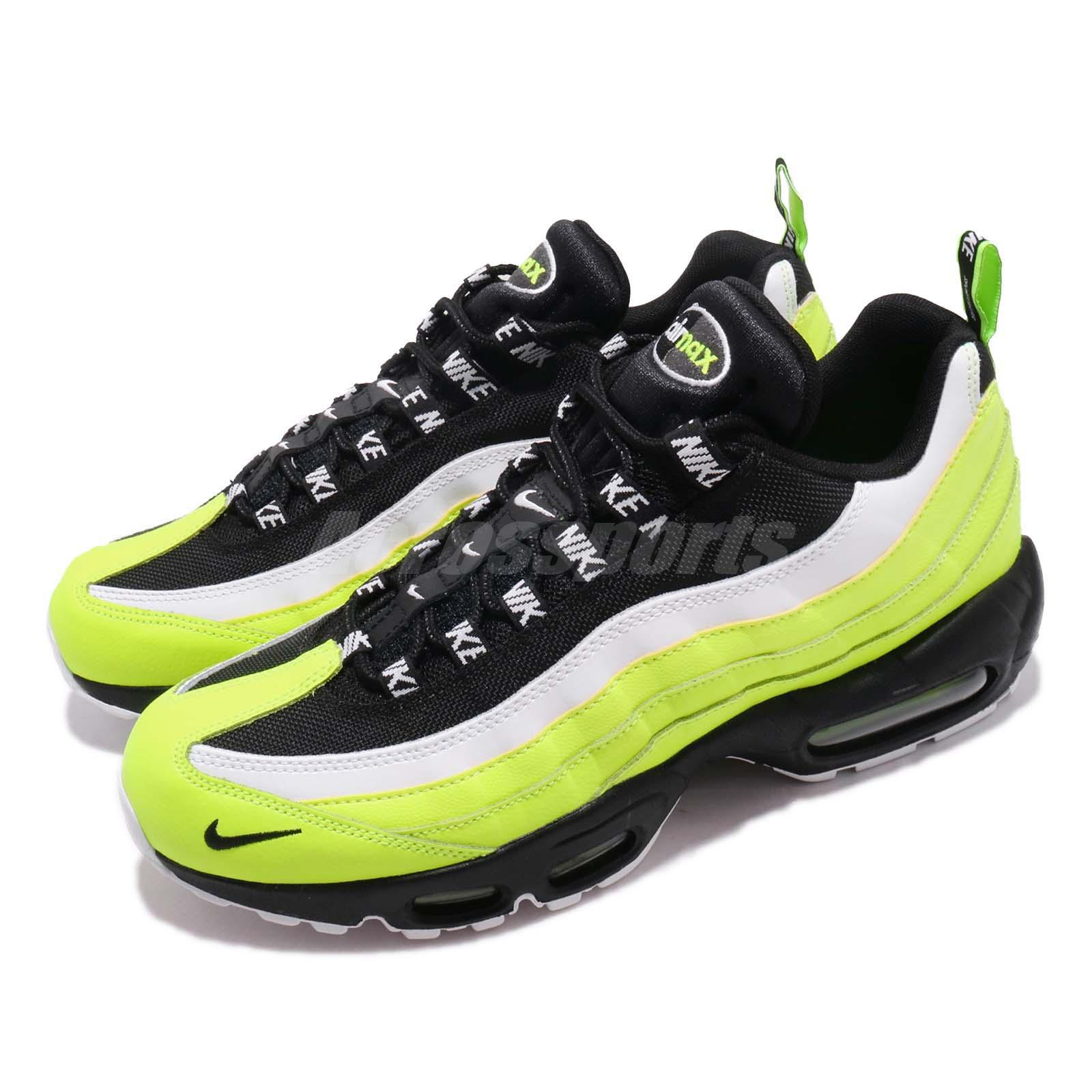 Details about Nike Air Max 95 PRM Volt Black Mens Running Shoes NSW Sneakers 538416 701