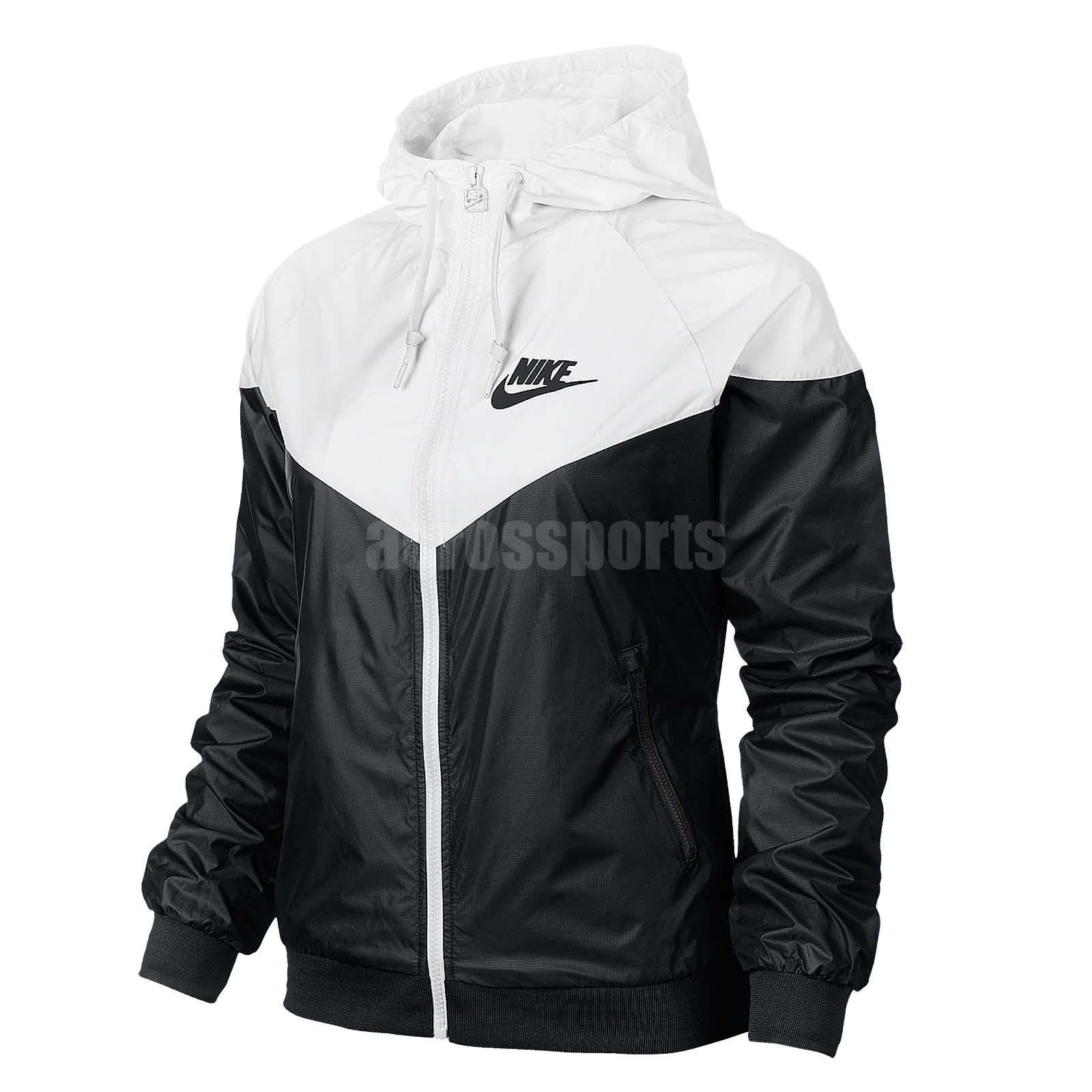 ASIAN SIZE Nike AS Windrunner White Black Windbreaker ...