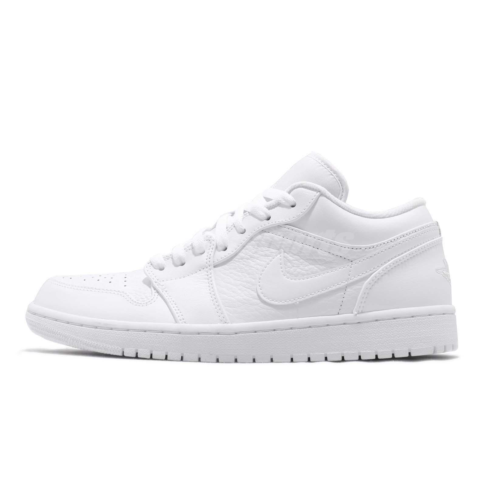 d0d6fb4deb9cf7 Nike Air Jordan 1 Low I AJ1 White Pure Platinum Men Basketball Shoes  553558-111