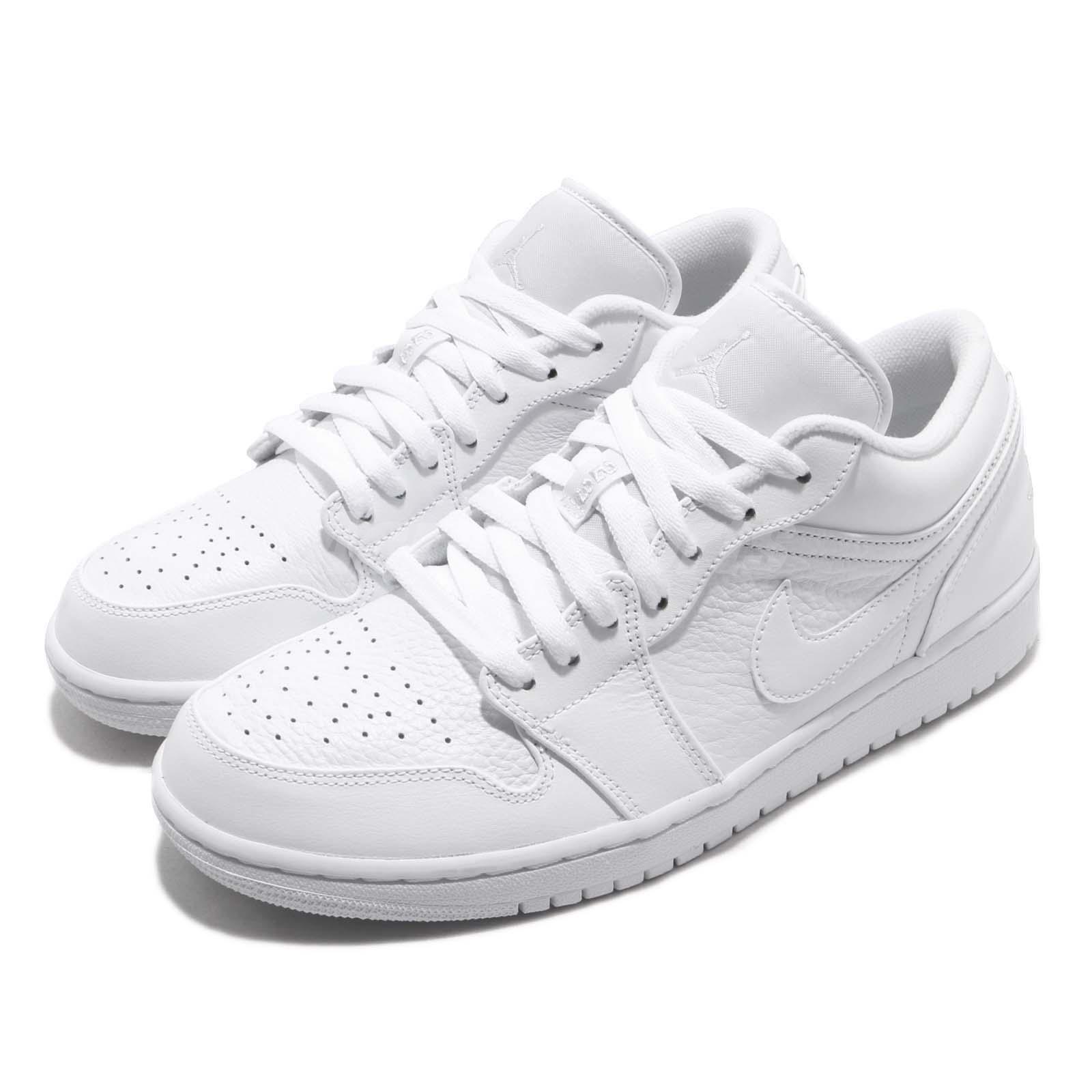 fcf6a8b068a Details about Nike Air Jordan 1 Low I AJ1 White Pure Platinum Men  Basketball Shoes 553558-111