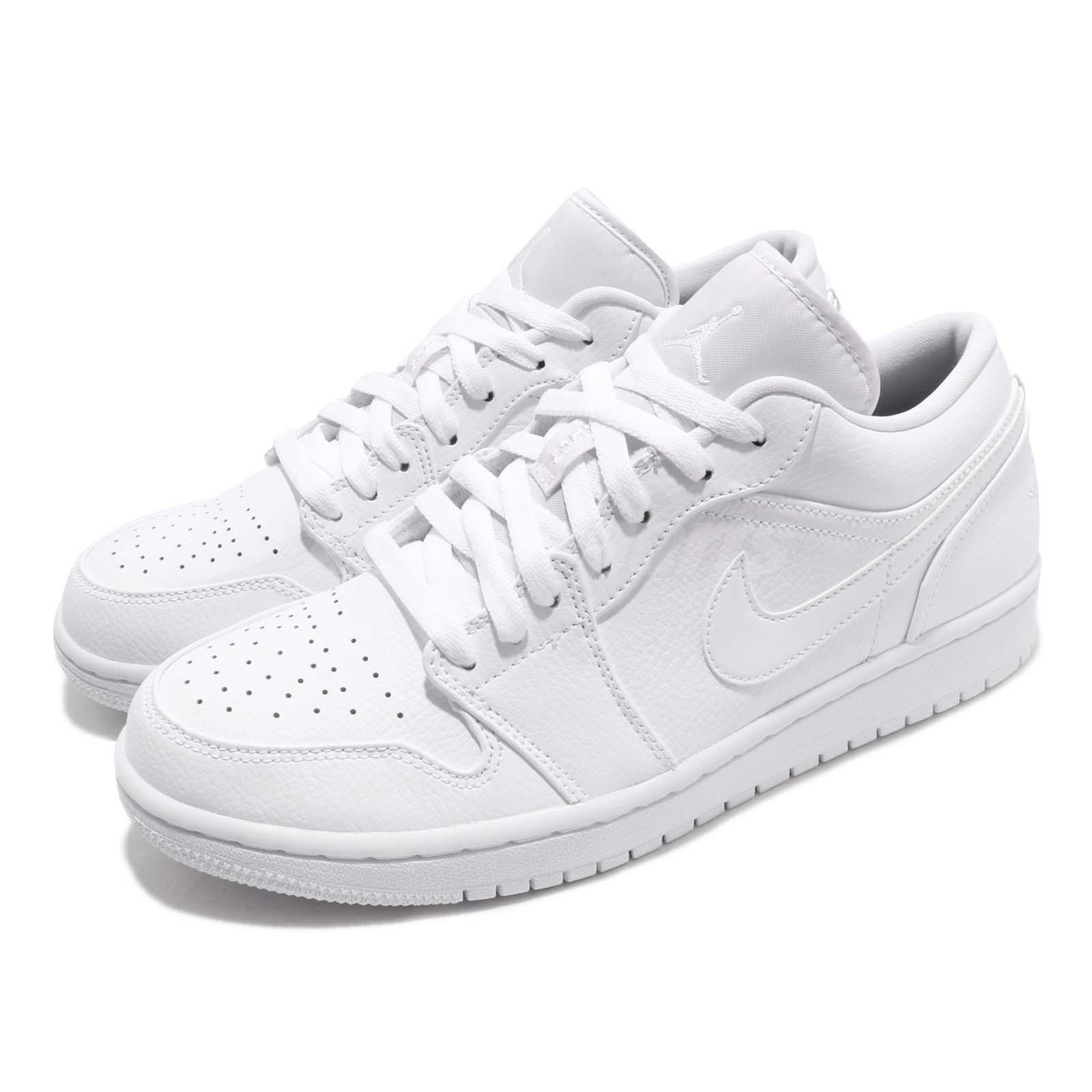 online store 8a267 f5941 Details about Nike Air Jordan 1 Low I AJ1 Triple White Men Classic Shoes  Sneakers 553558-112