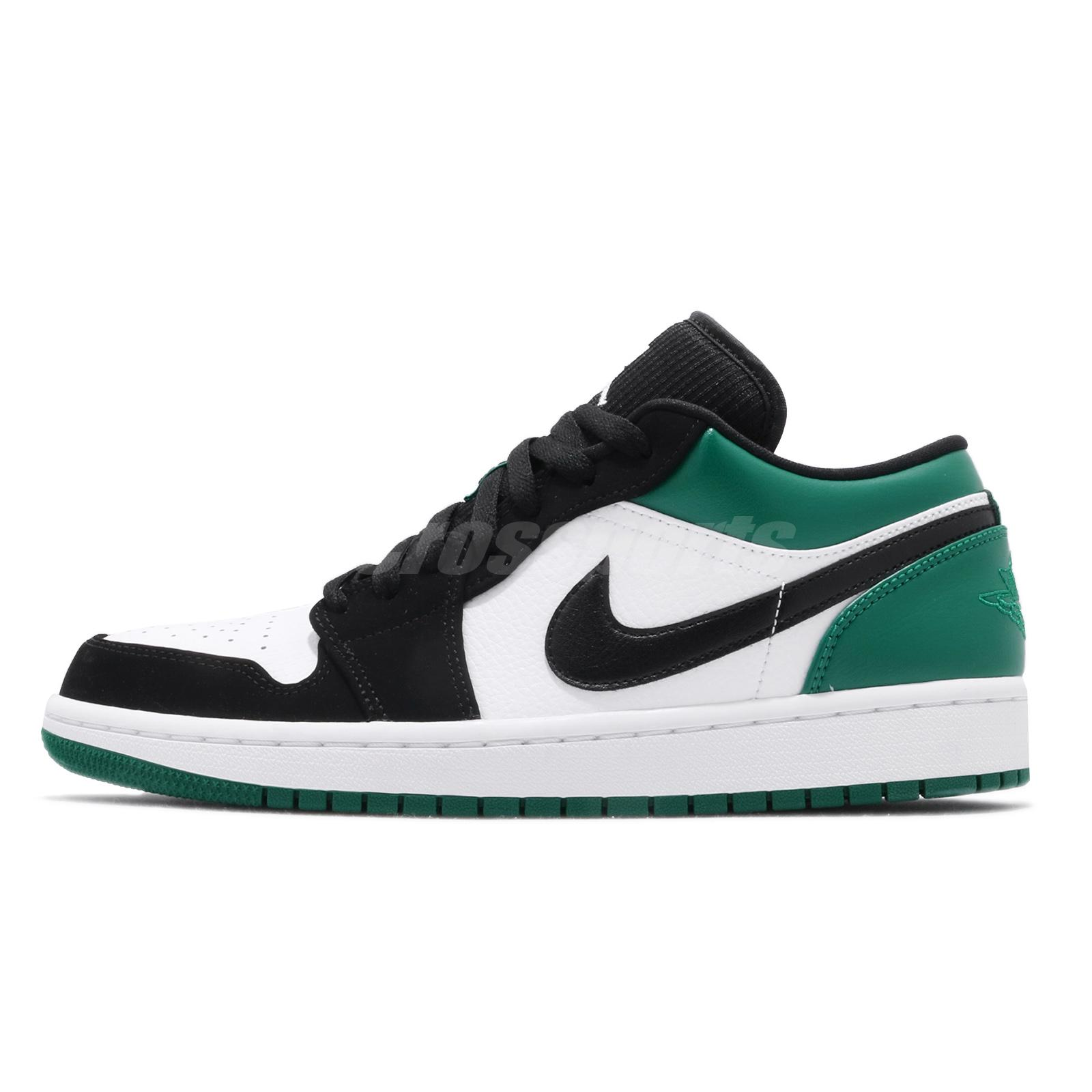 a7992ee3081ecd Nike Air Jordan 1 Low I AJ1 Mystic Green White Black Men Shoe Sneaker 553558 -113