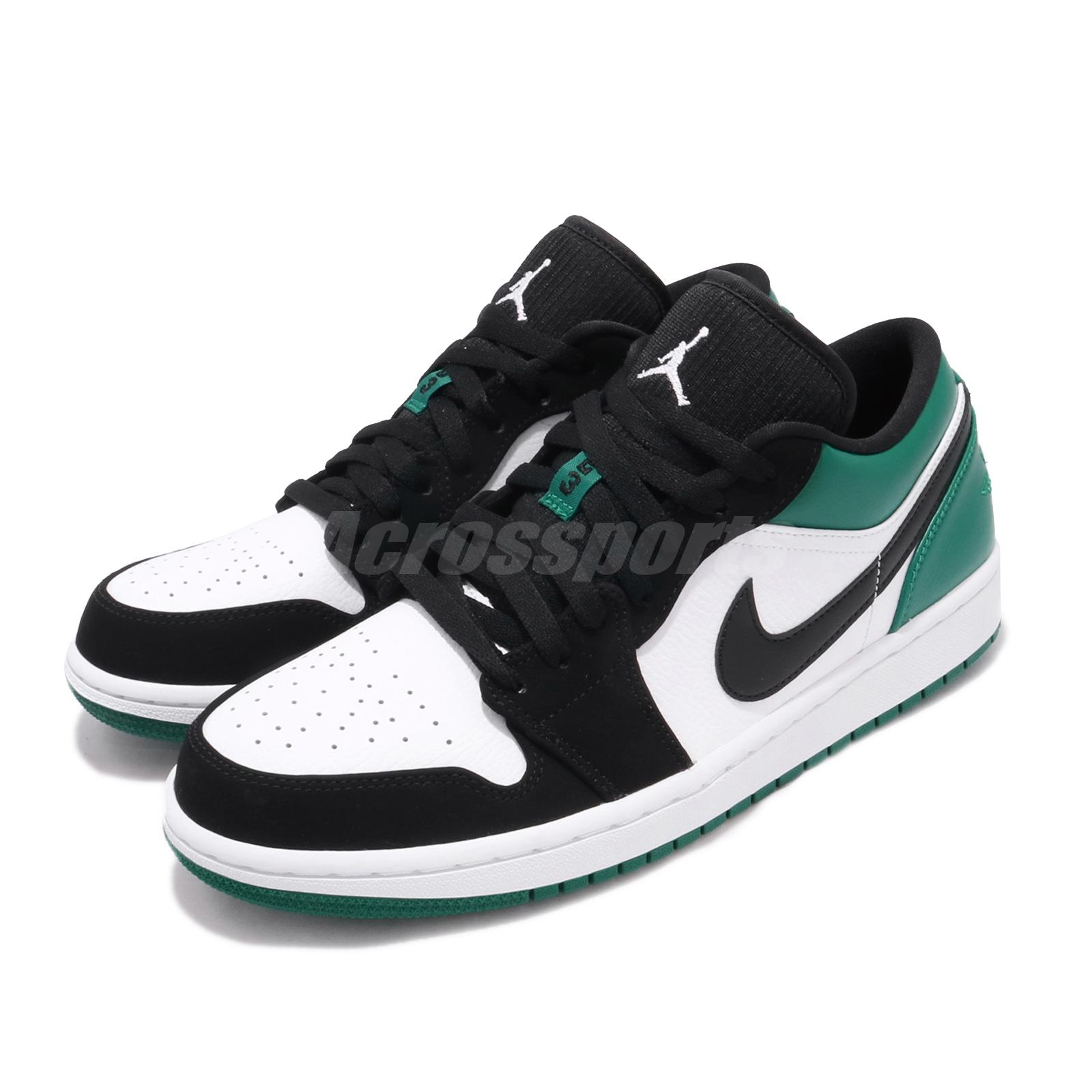 buy popular 1916c 588c5 Details about Nike Air Jordan 1 Low I AJ1 Mystic Green White Black Men Shoe  Sneaker 553558-113